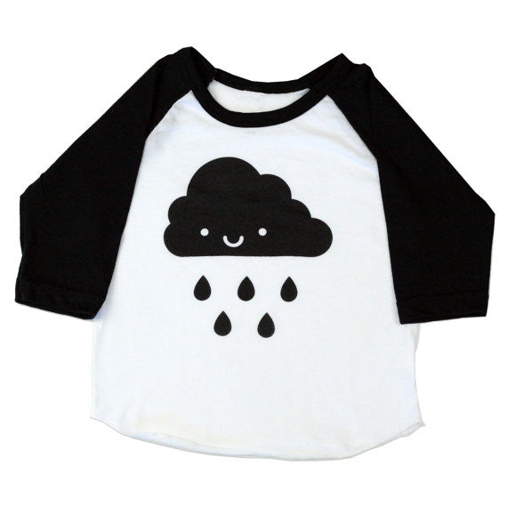 Kawaii Cloud Baseball Raglan