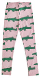 Pink crocodile leggings