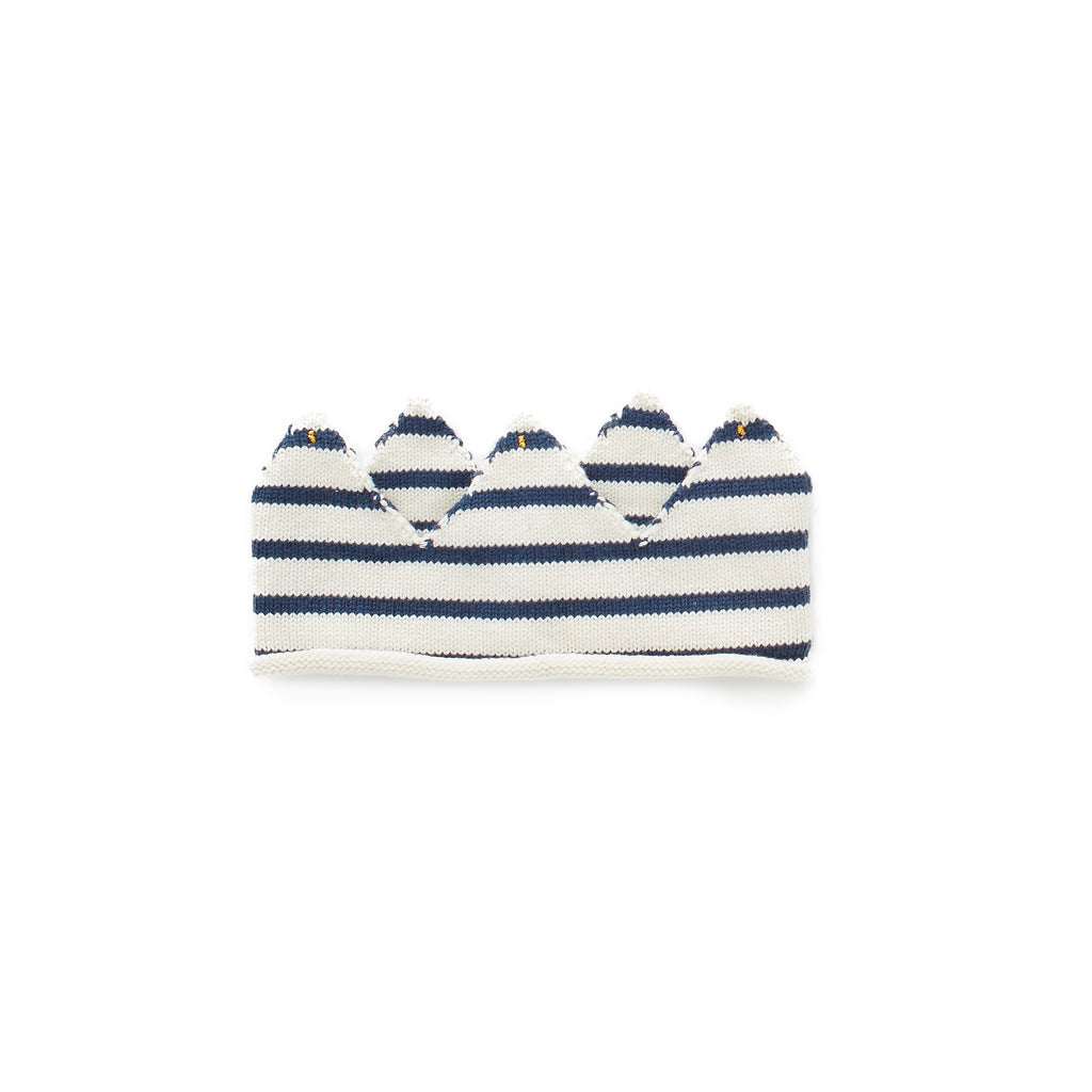 knit crown - navy stripes