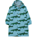 Blue crocodile raincoat