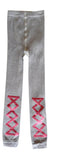 Ribbon leggings - grey/pearlized rose