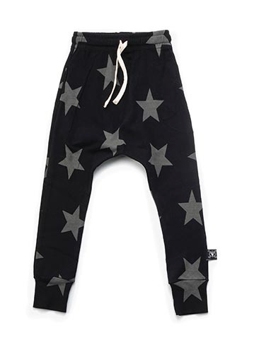 star baggy pants - black