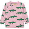 Pink crocodile sweatshirt