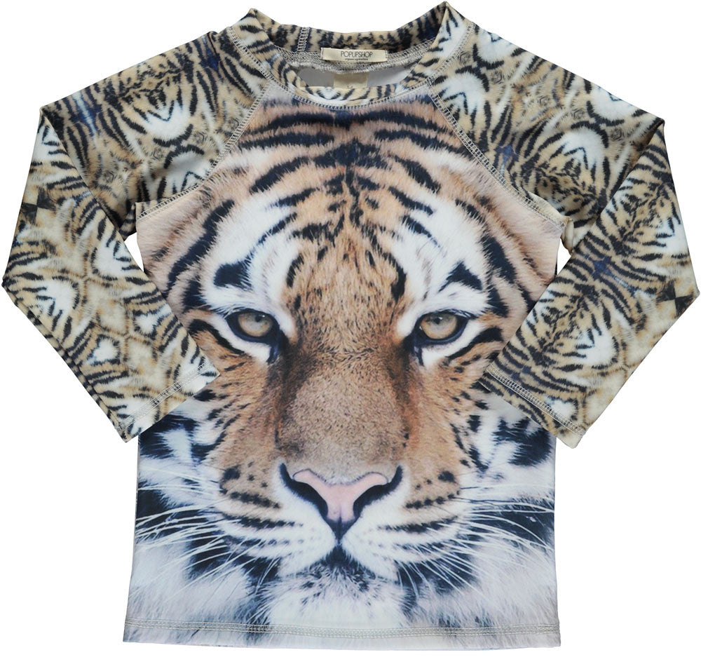 Swim top UV - tiger