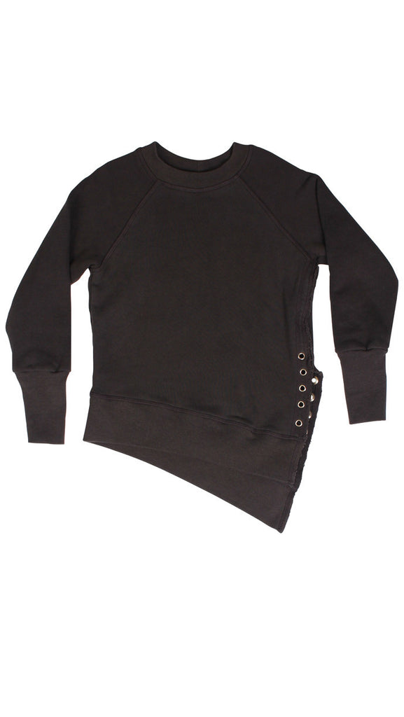 Weekender lace - up sweat - Charcoal