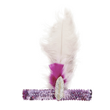 Whimsical feather headband