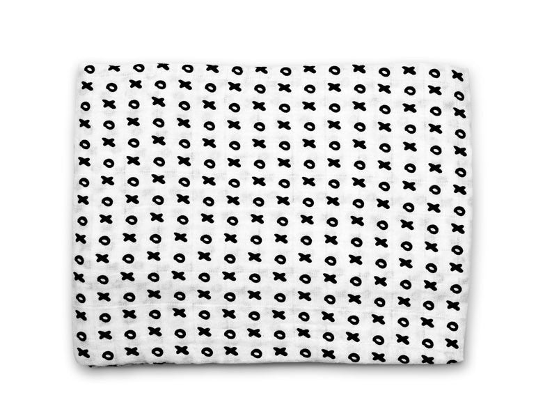 Organic cotton muslin swaddle - XO