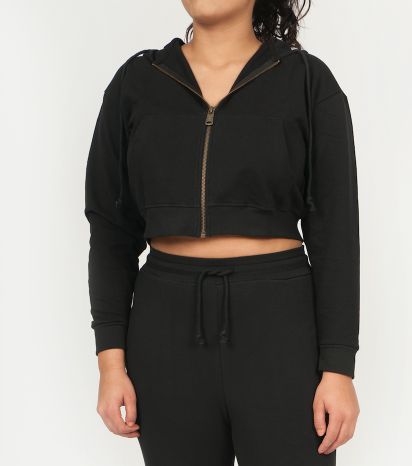 trish zipped hoodie - CERER