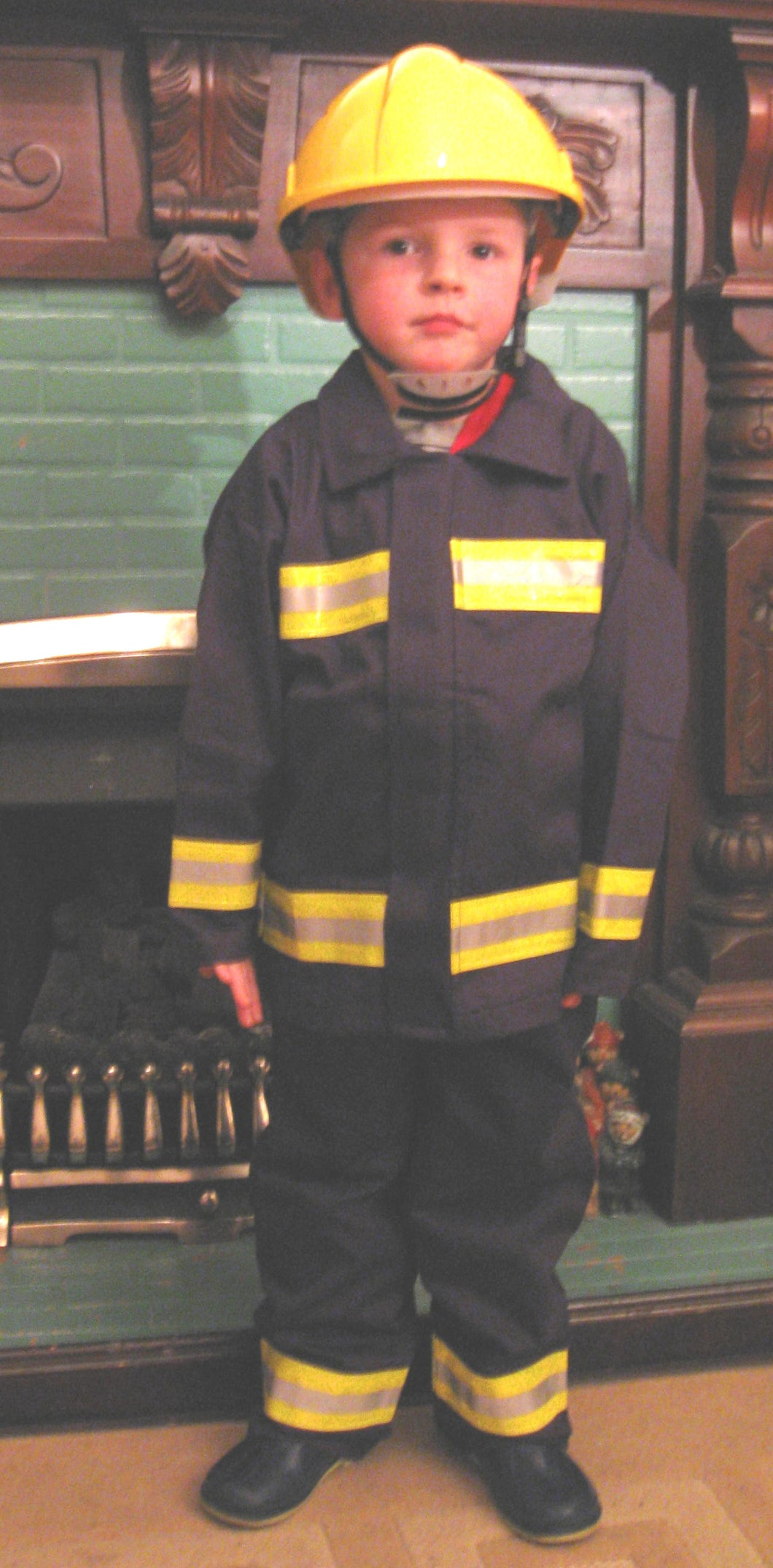 Kiddies Firefighters Play Suit With Braces