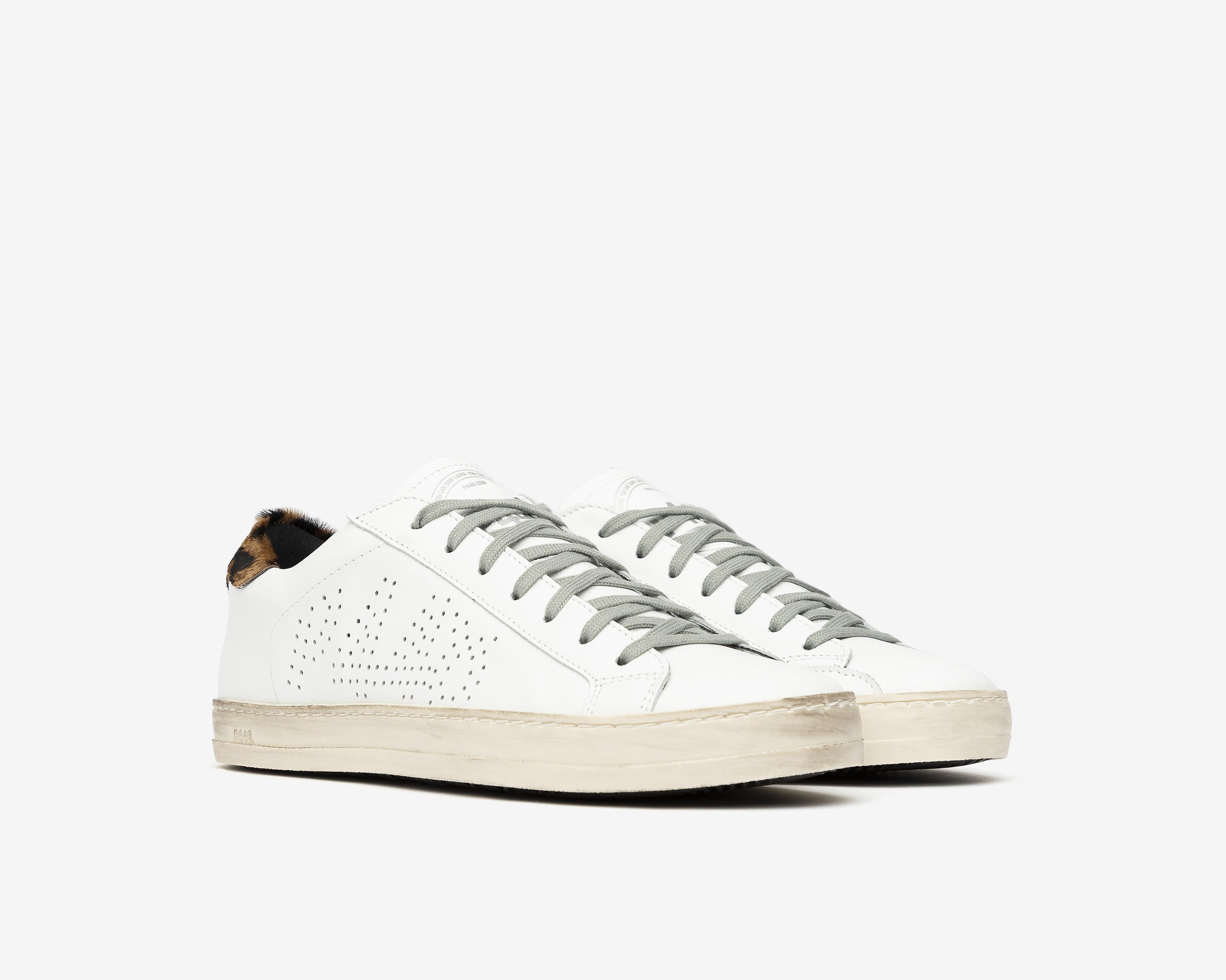 John Low-Top Sneaker in White/Cleo - Side