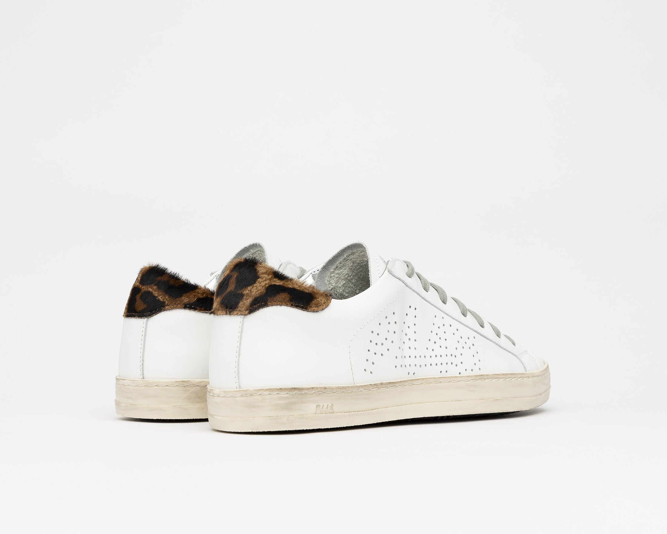 John Low-Top Sneaker in White/Cleo - Back