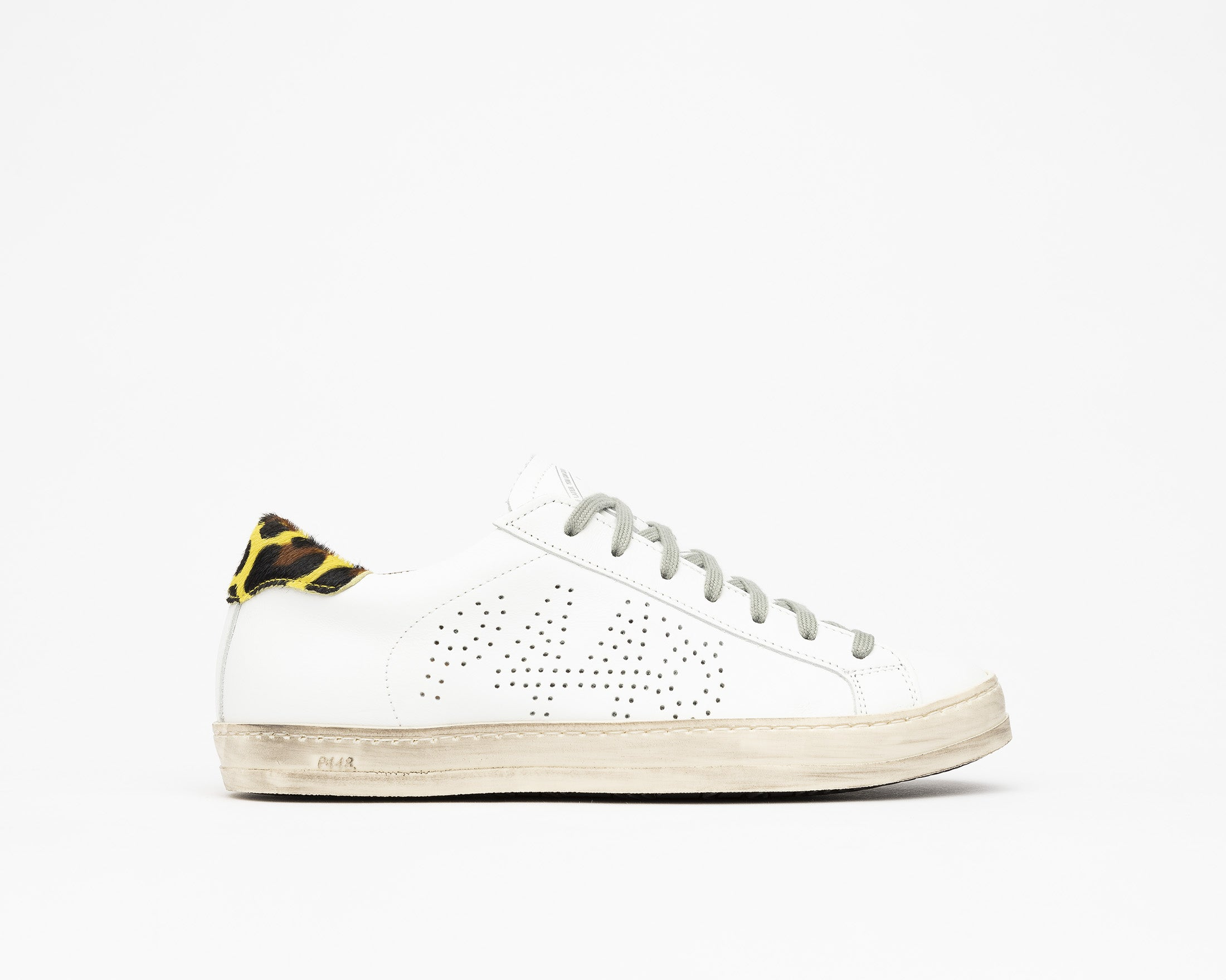John Low-Top Sneaker in White/Cleo Yellow - Profile