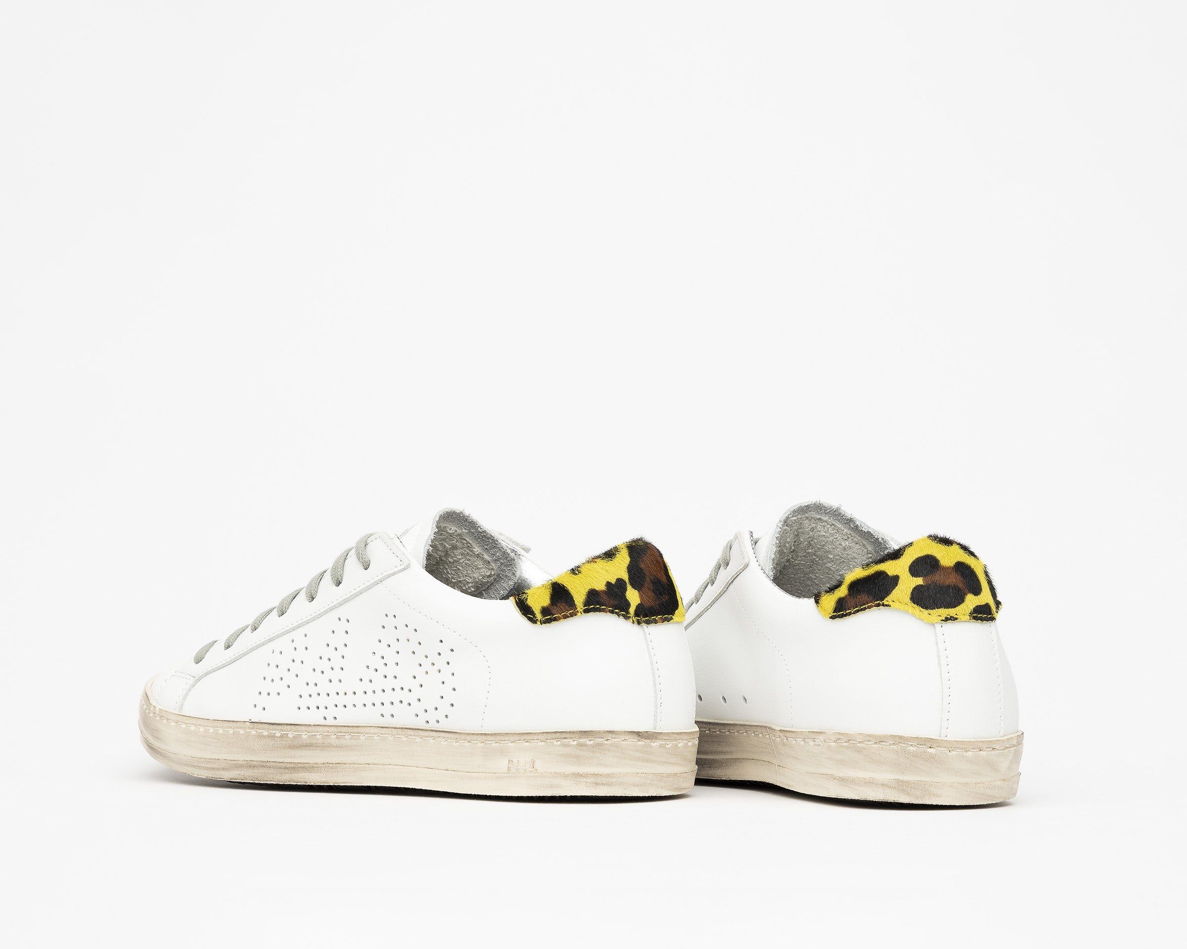 John Low-Top Sneaker in White/Cleo Yellow - Detail 2