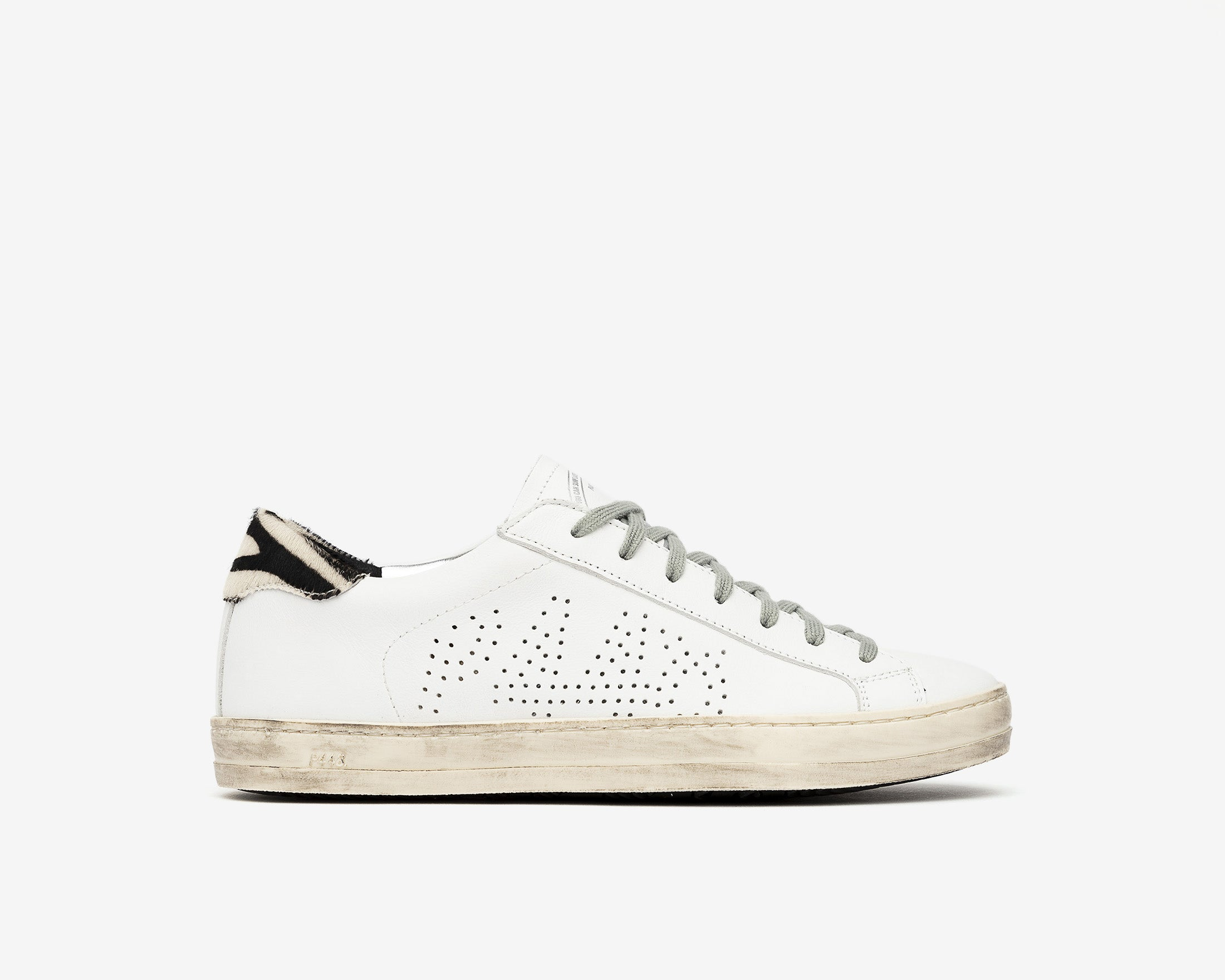 John Low-Top Sneaker in White/CZebra - Profile