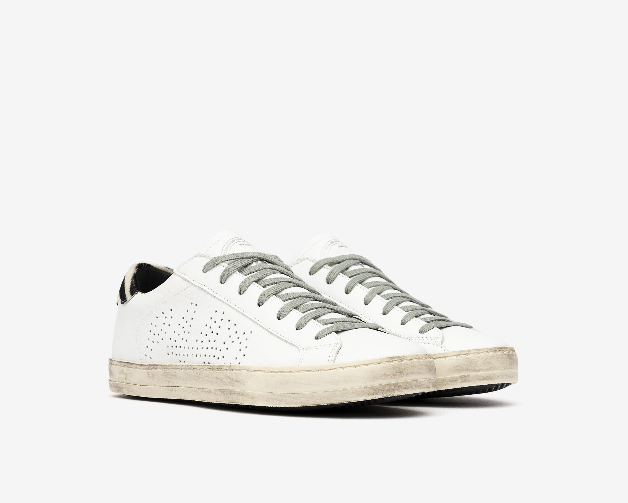 John Low-Top Sneaker in White/CZebra - Side
