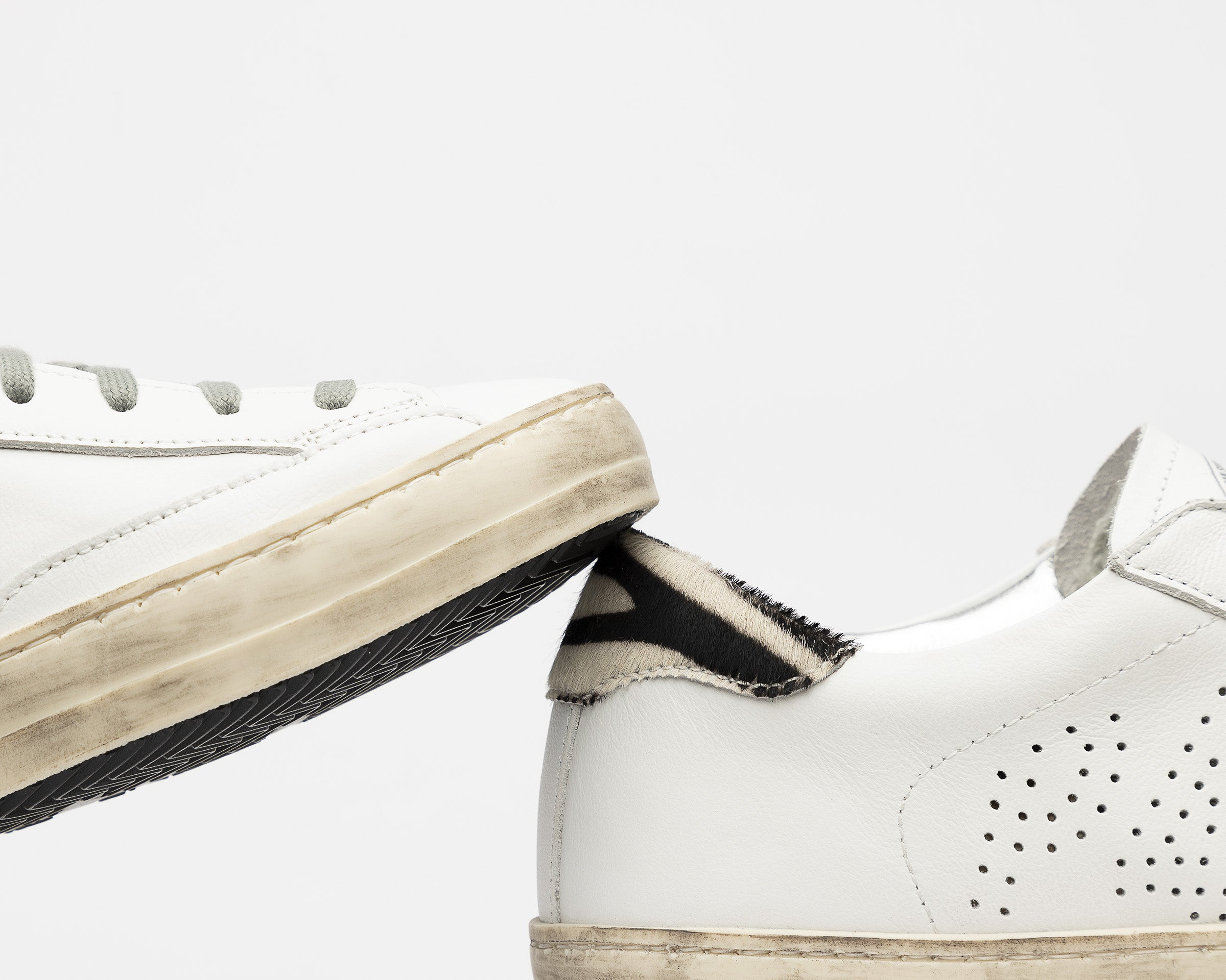 John Low-Top Sneaker in White/CZebJohn Low-Top Sneaker in White/CZebra - Detail 2