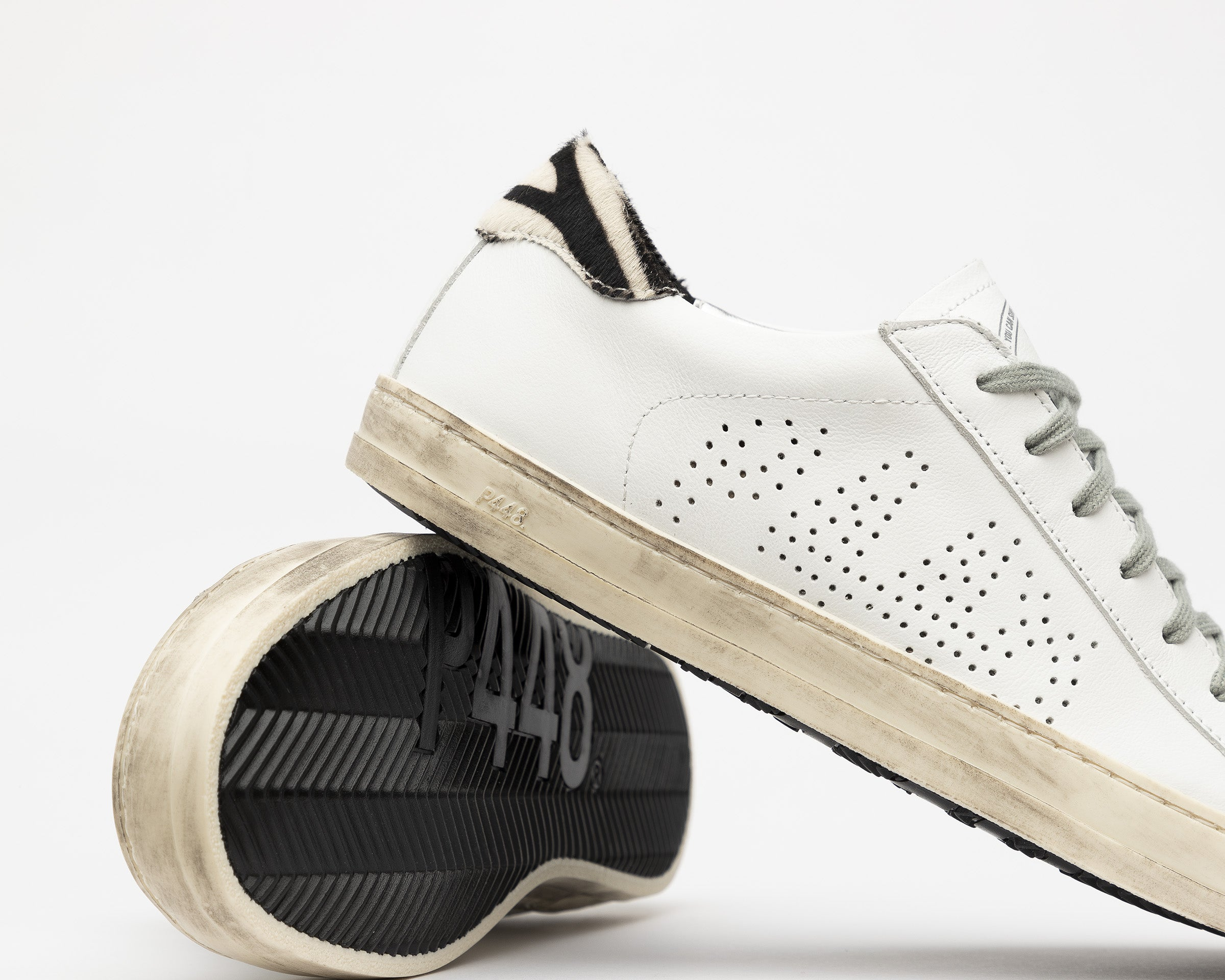 John Low-Top Sneaker in White/CZebra - Detail 3