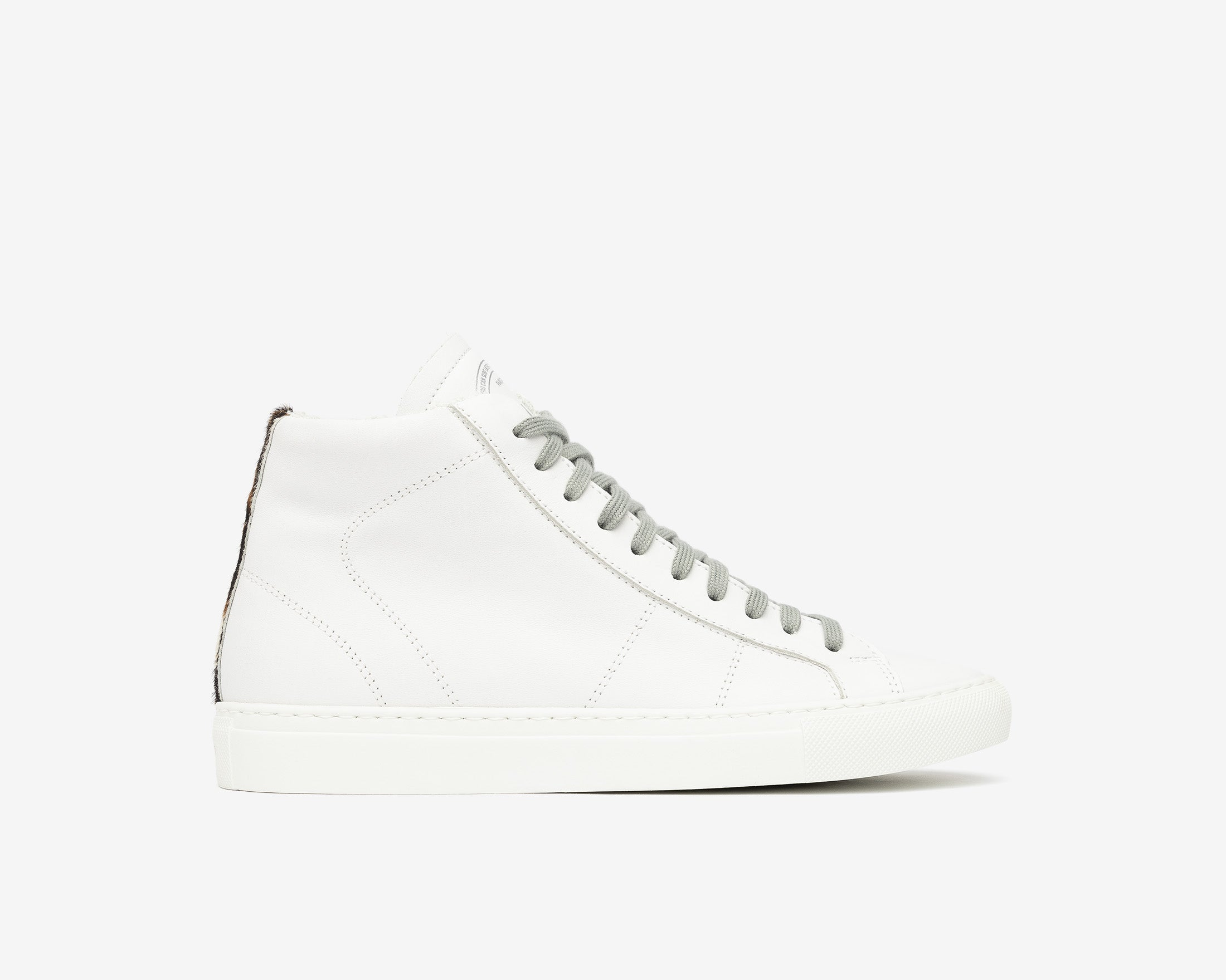 Star High-Top Sneaker in White/Tiger - Profile
