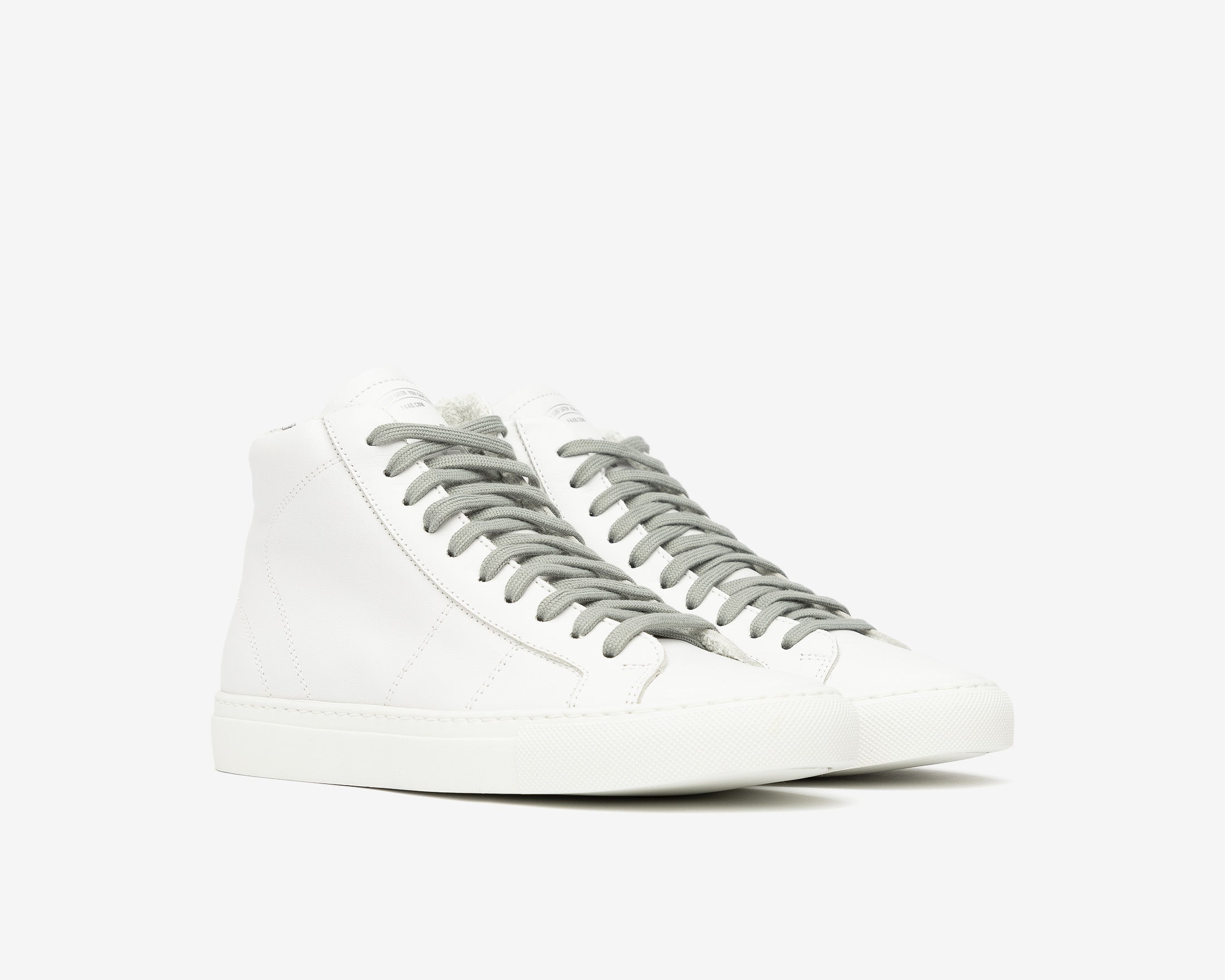 Star High-Top Sneaker in White/Tiger - Side