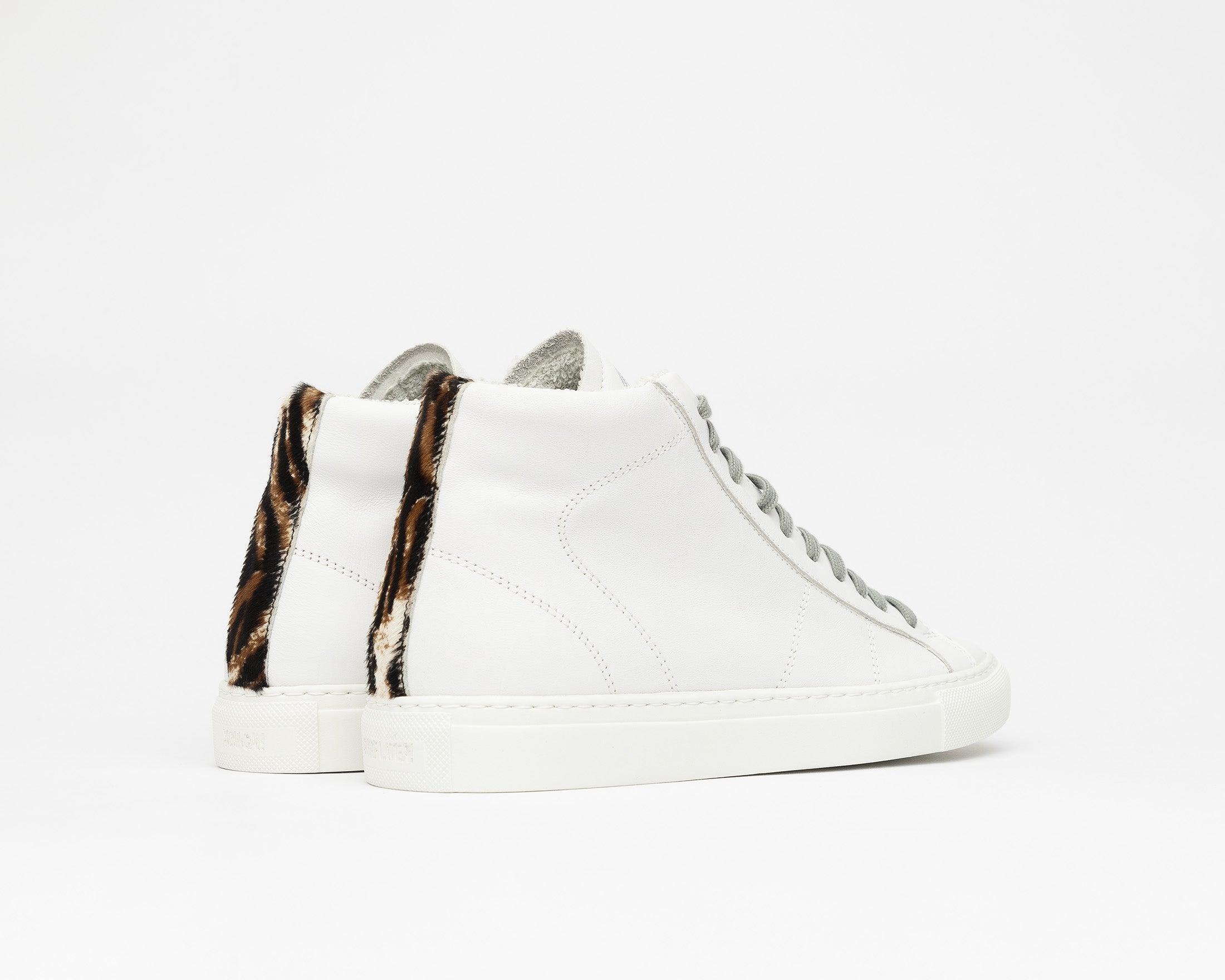 Star High-Top Sneaker in White/Tiger - Back