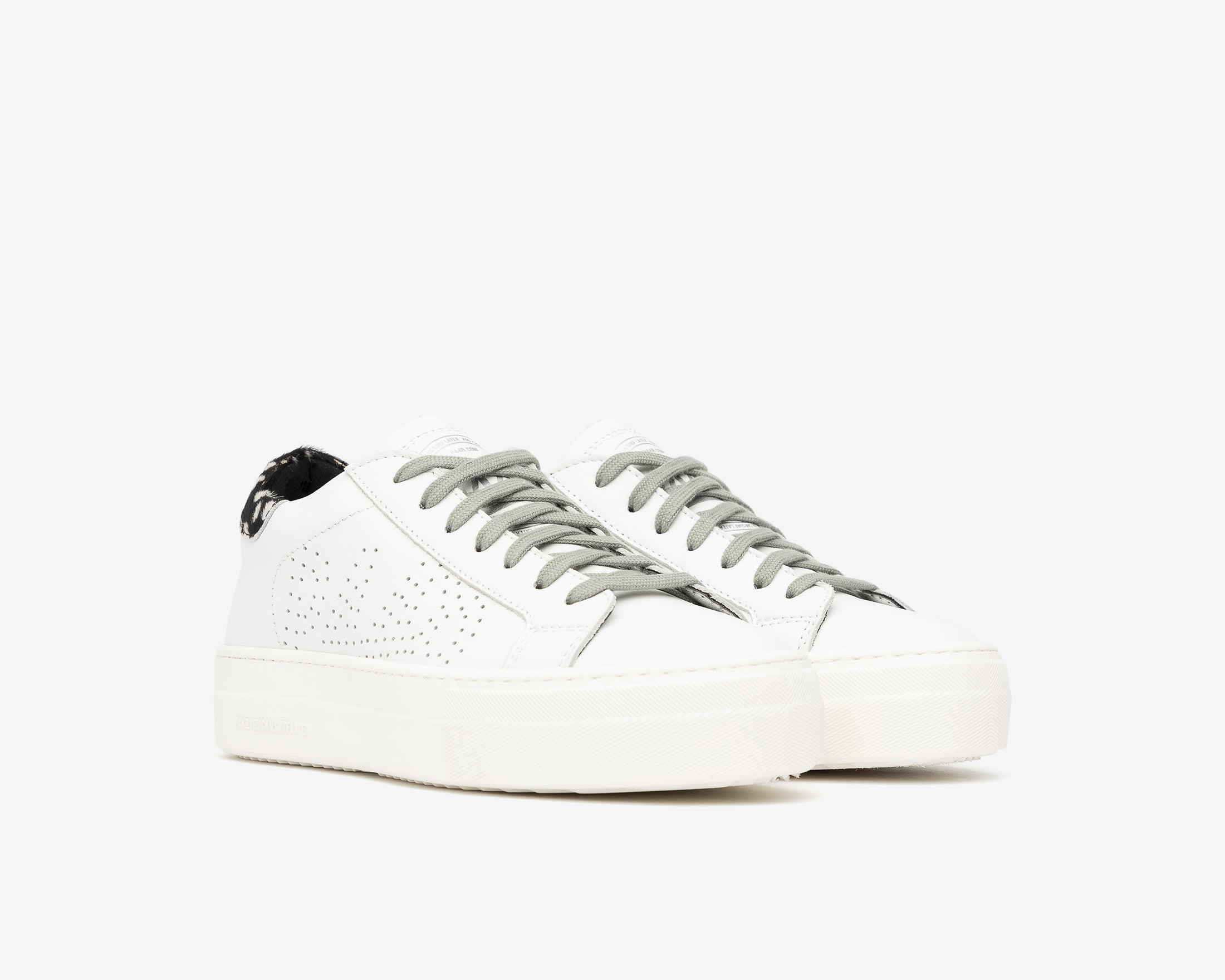 Thea Platform Sneaker in White/Cper - Side