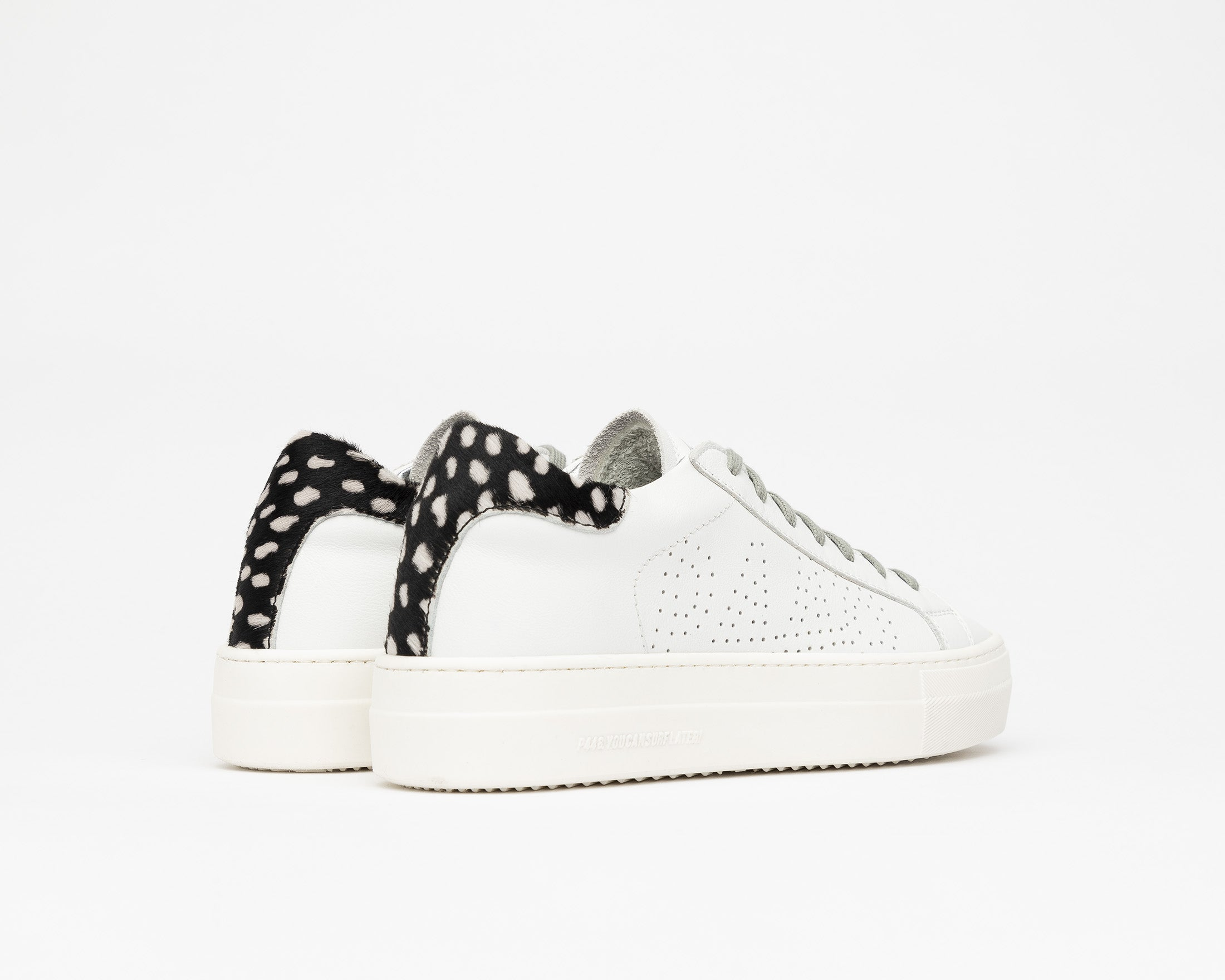 Thea Platform Sneaker in White/Cper - Back