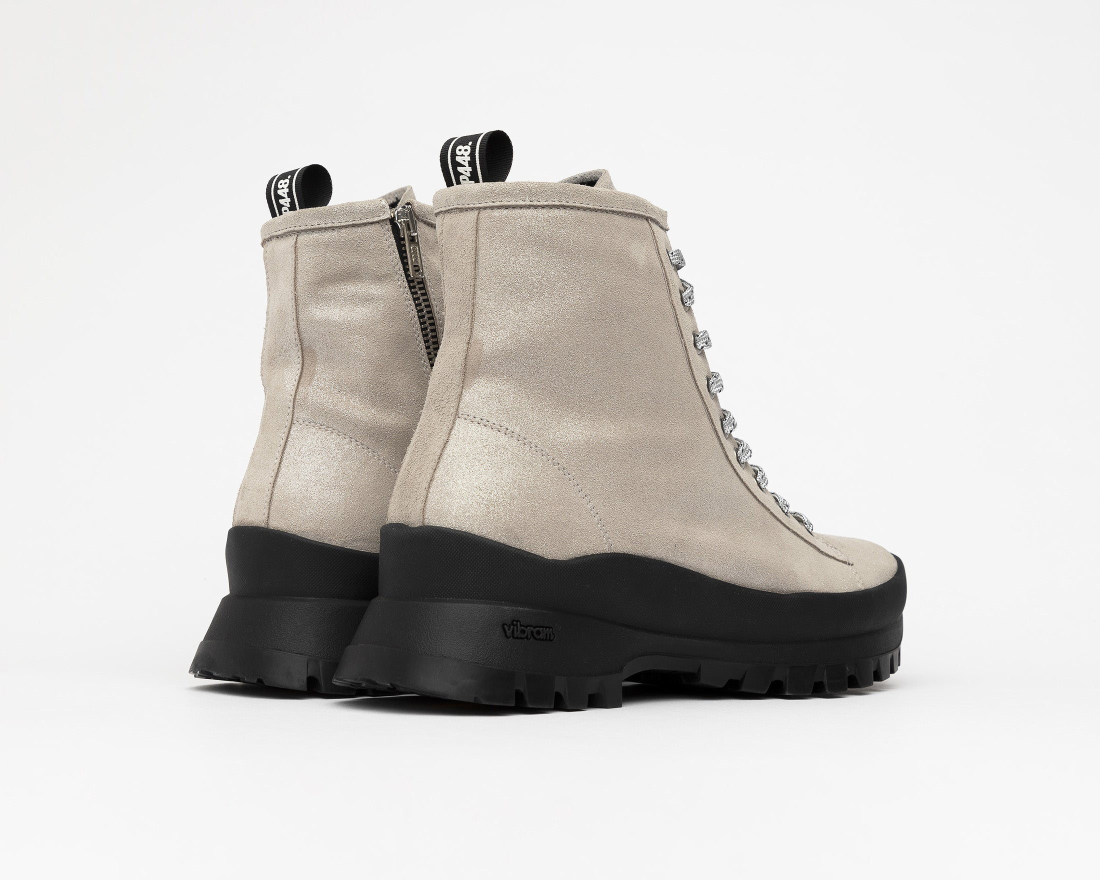 Denise Combat Boot with Vibram bottom in Spark - Back