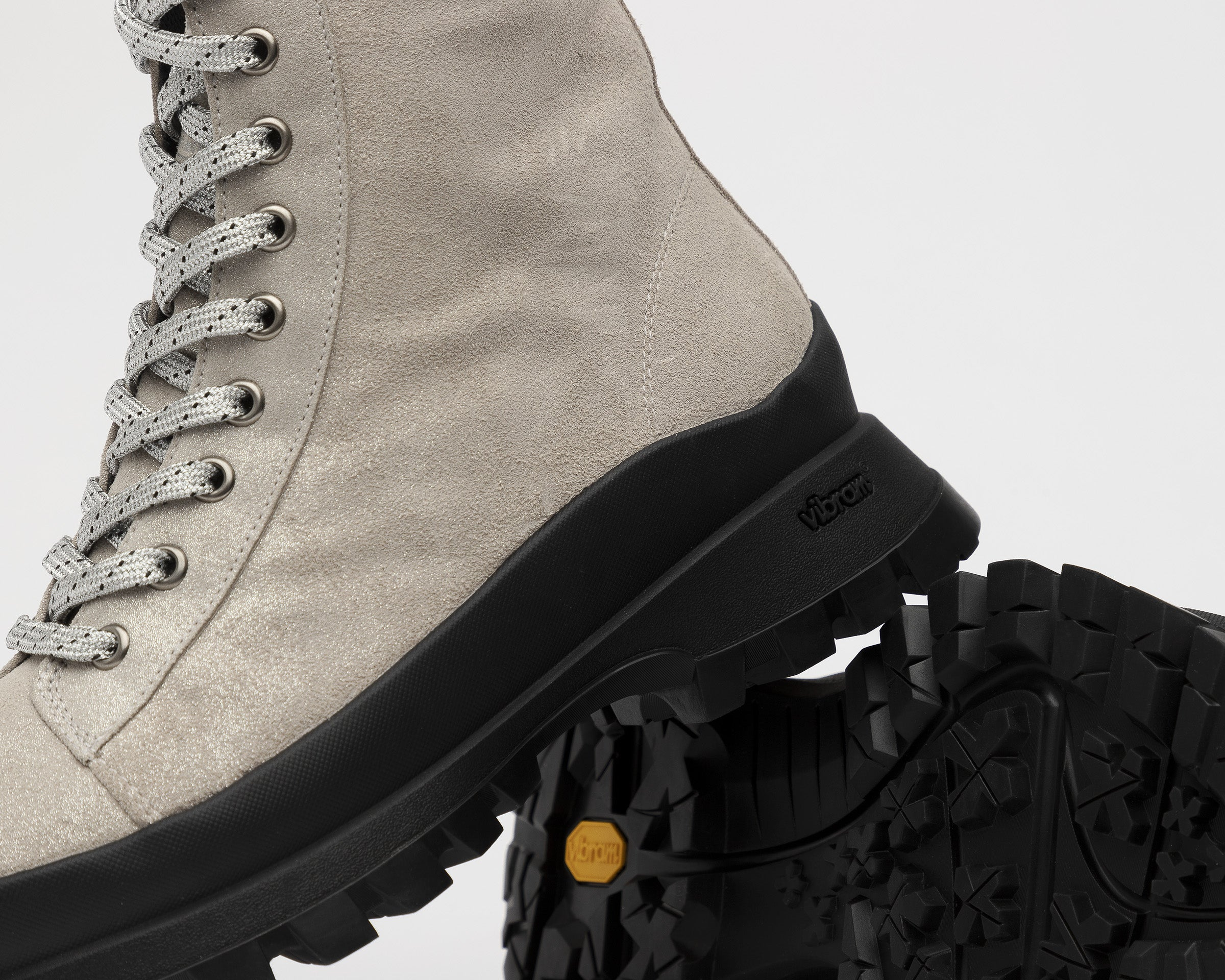 Denise Combat Boot with Vibram bottom in Spark - Detail 2