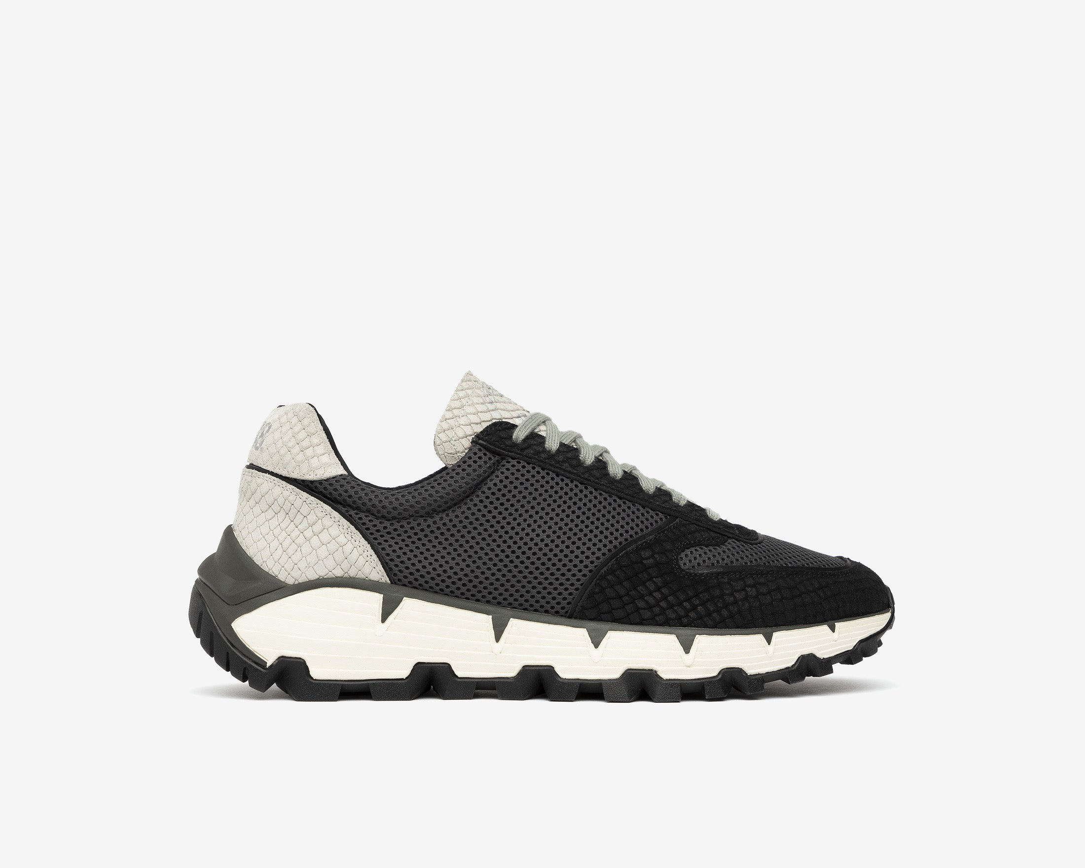 Jackson Chunky Sneaker in Black/Gray MultiSnake - Profile
