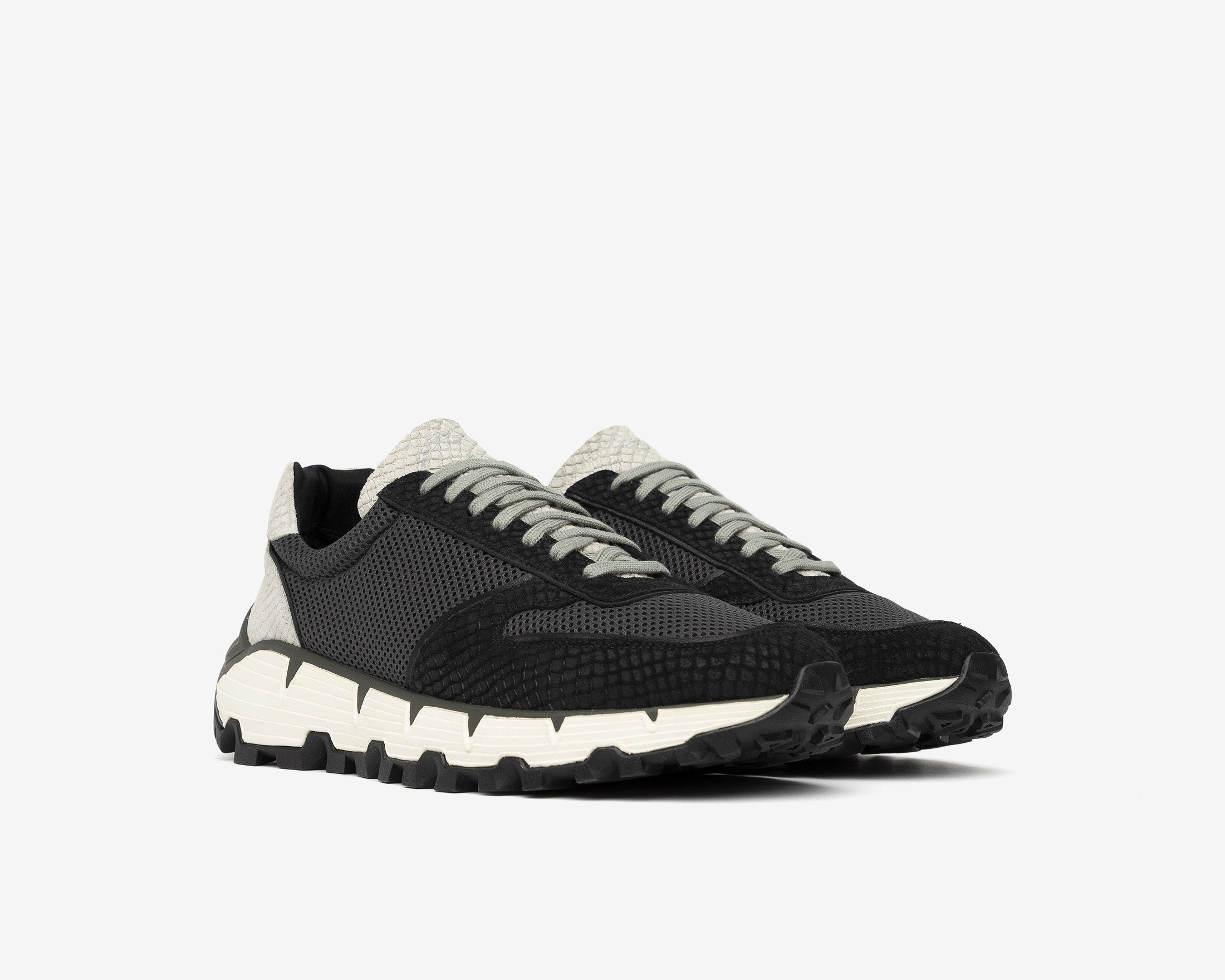 Jackson Chunky Sneaker in Black/Gray MultiSnake - Side