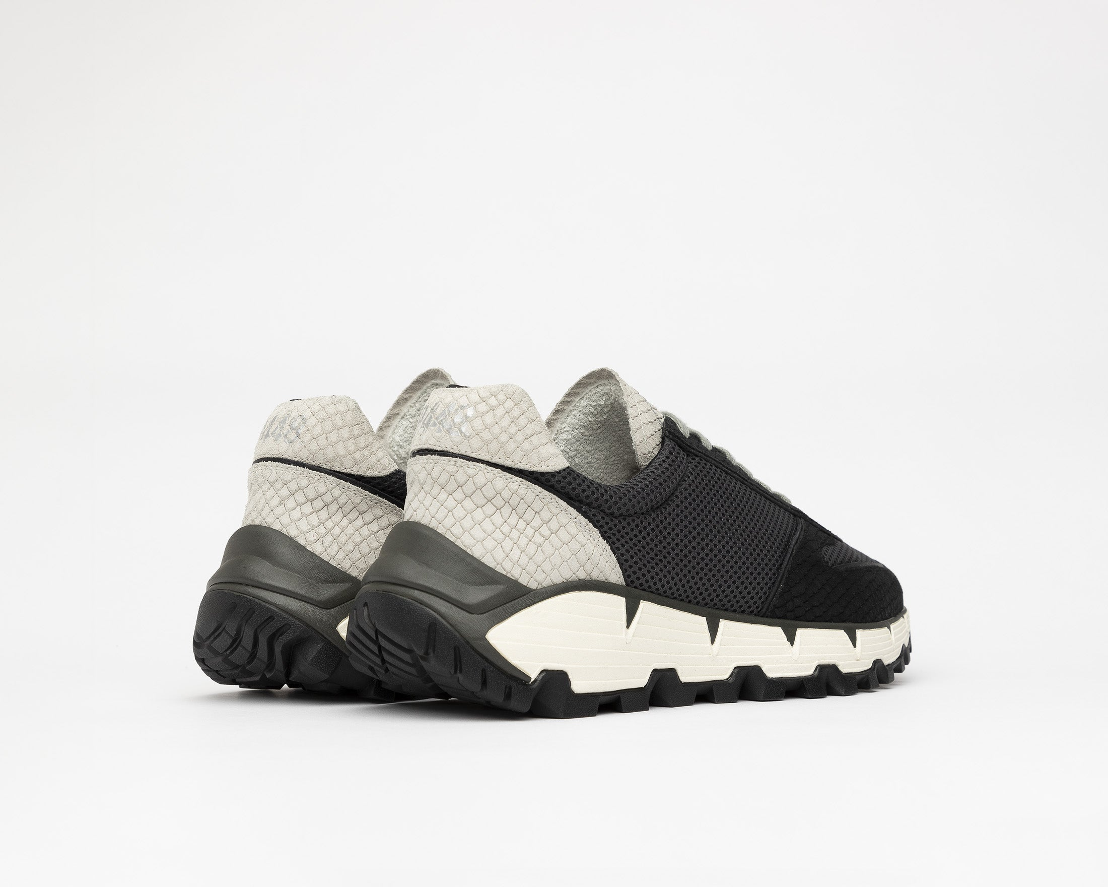 Jackson Chunky Sneaker in Black/Gray MultiSnake - Back