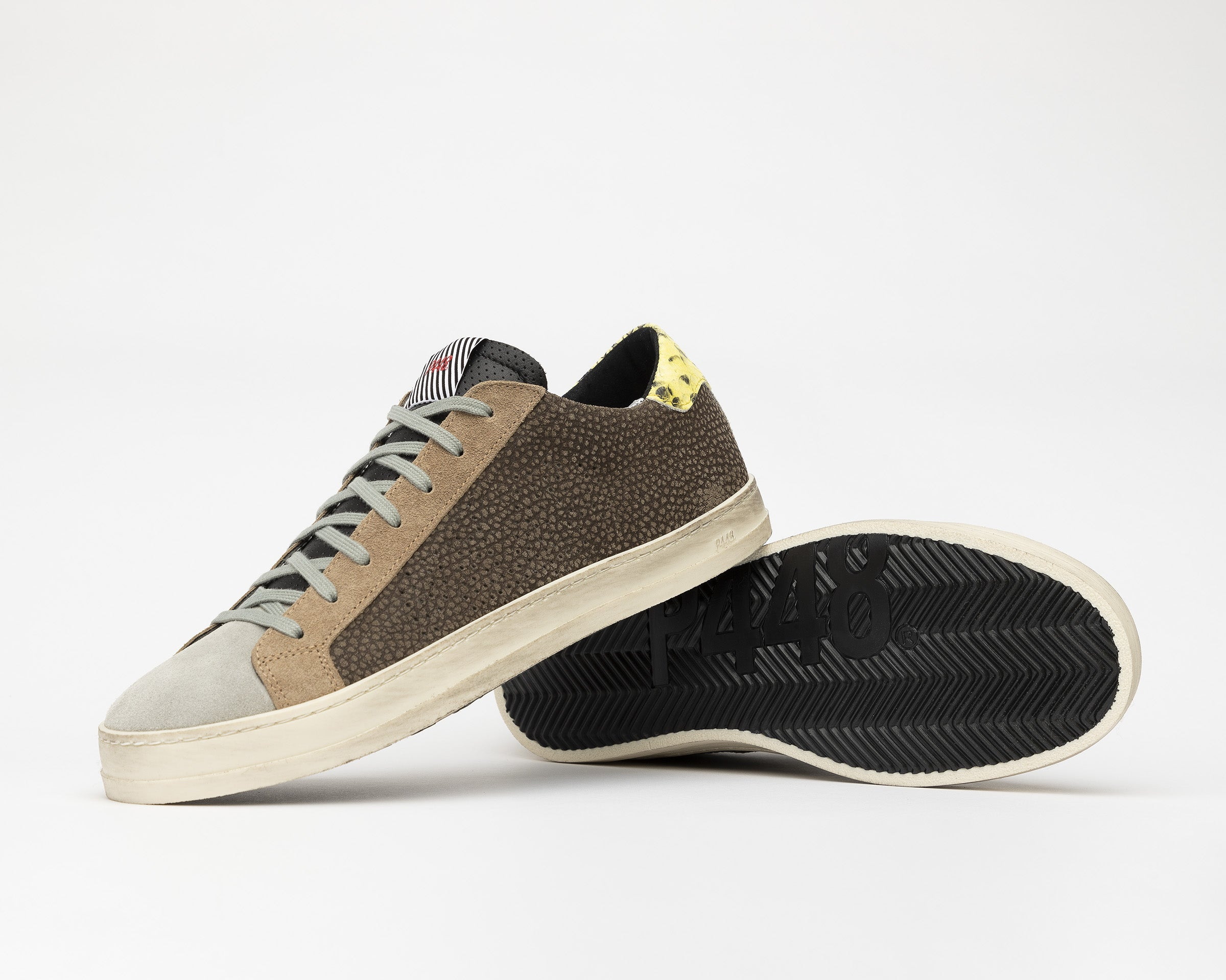 John Low-Top Sneaker in Brown - Detail