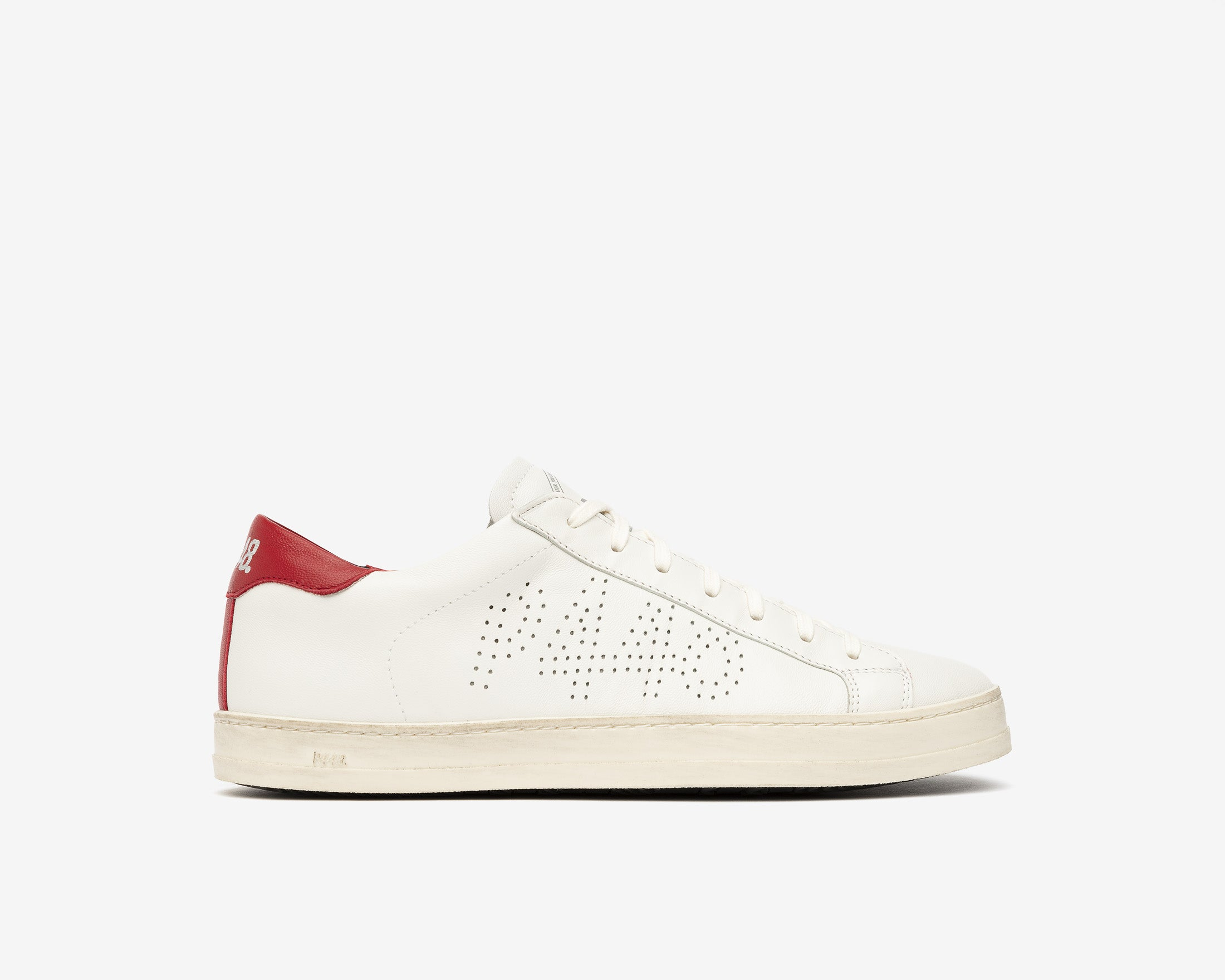 John Low-Top Sneaker in White/Red - Profile