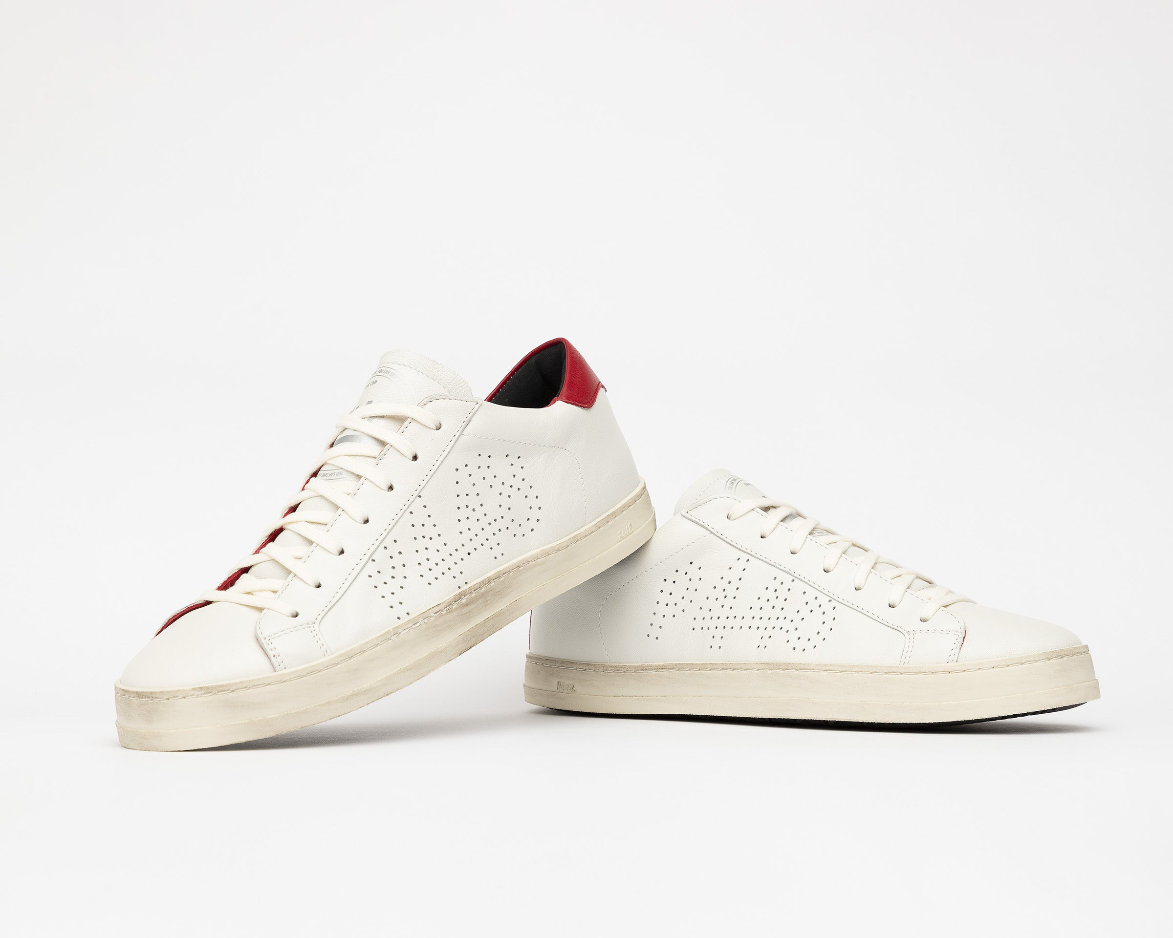 John Low-Top Sneaker in White/Red - Detail 1