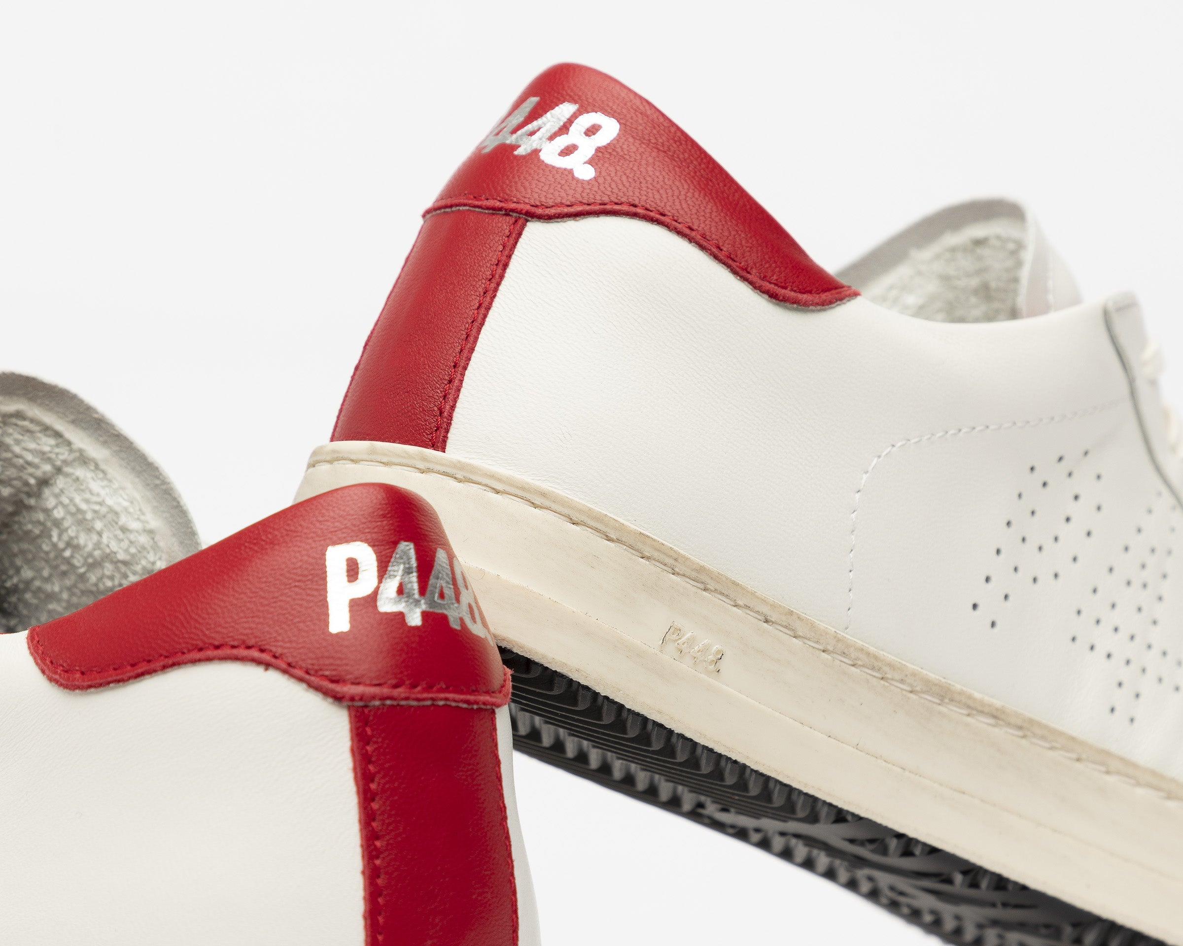 John Low-Top Sneaker in White/Red - Detail 2