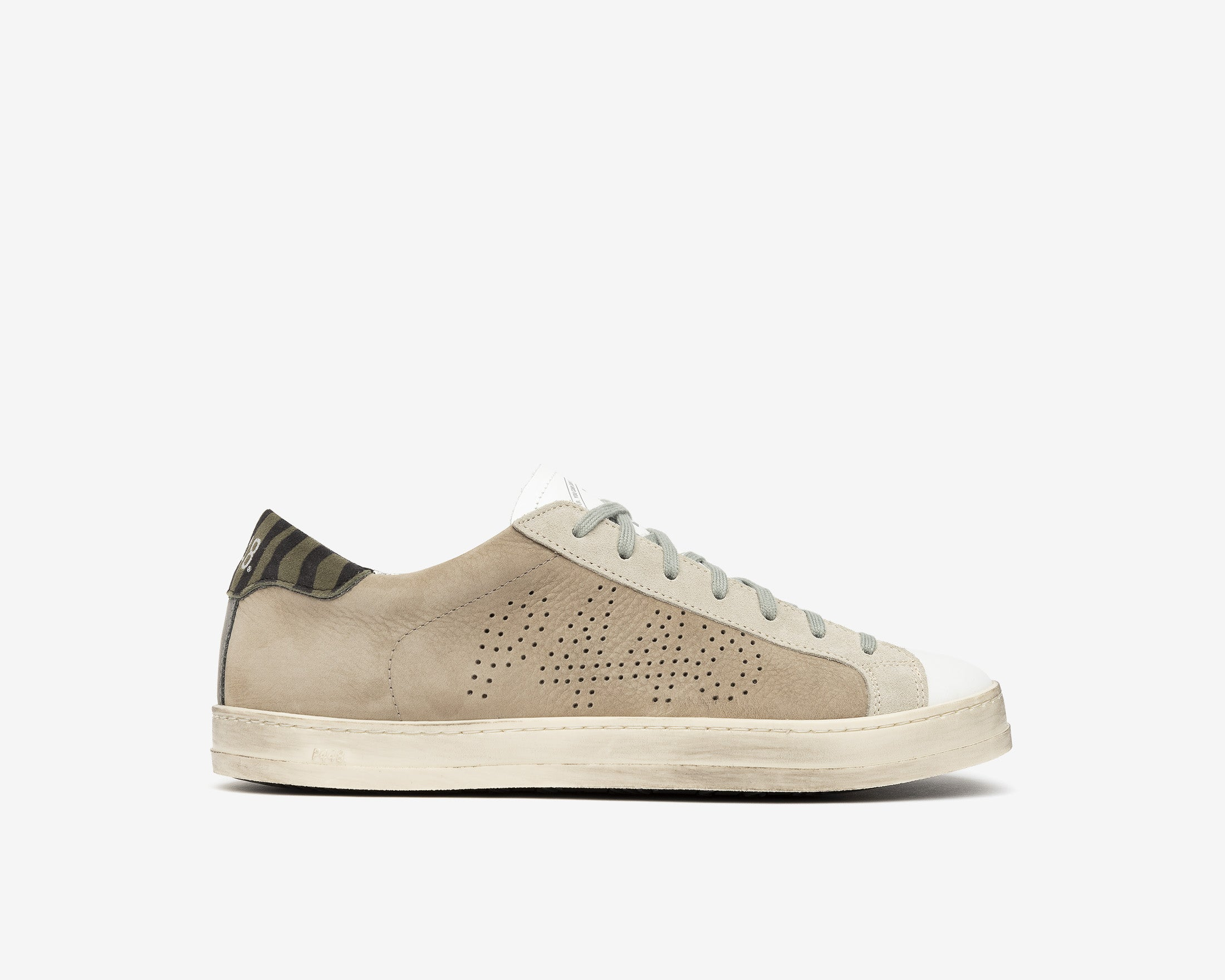 John Low-Top Sneaker in Gray Nubuck - Profile