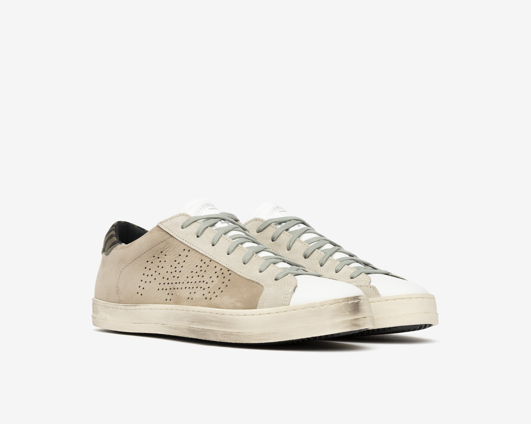 John Low-Top Sneaker in Gray NabJohn Low-Top Sneaker in Gray Nubuck - Side
