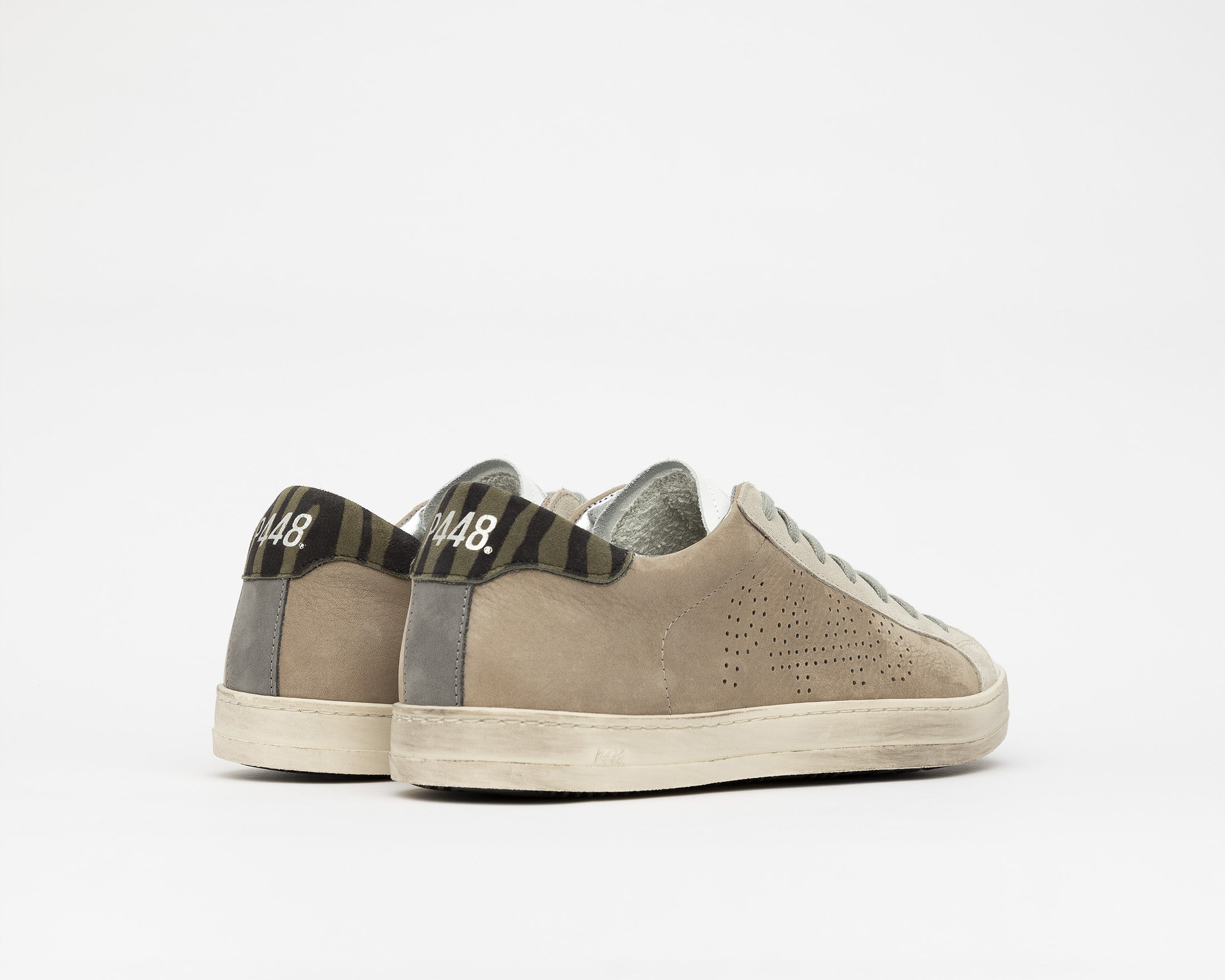 John Low-Top Sneaker in Gray NabJohn Low-Top Sneaker in Gray Nubuck - Back