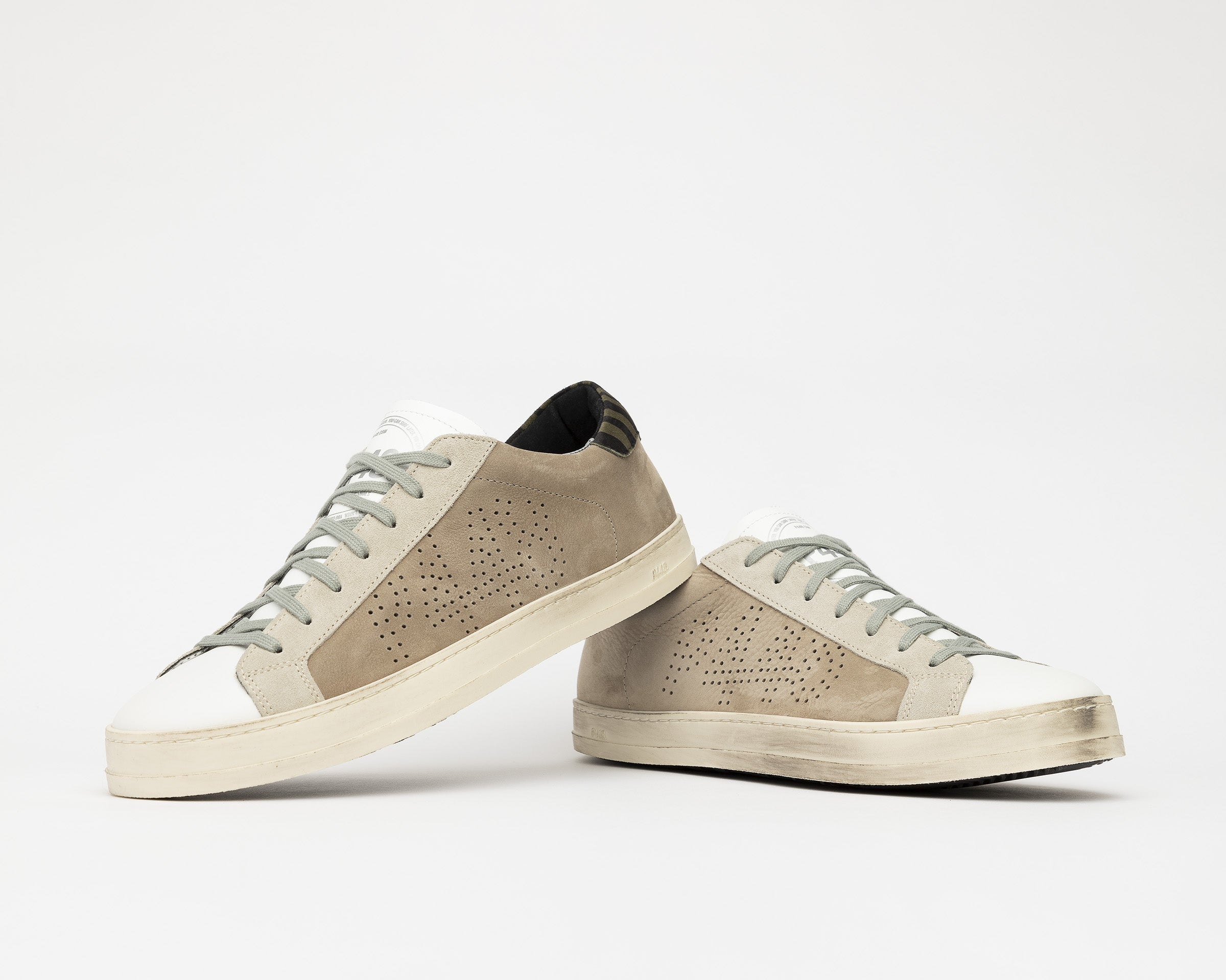 John Low-Top Sneaker in Gray Nubuck - Detail 1