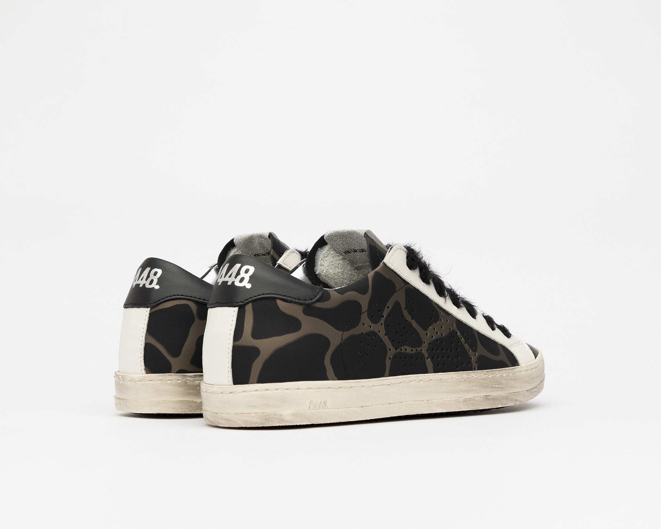 John Low-Top Sneaker in Army Giraffe - Back