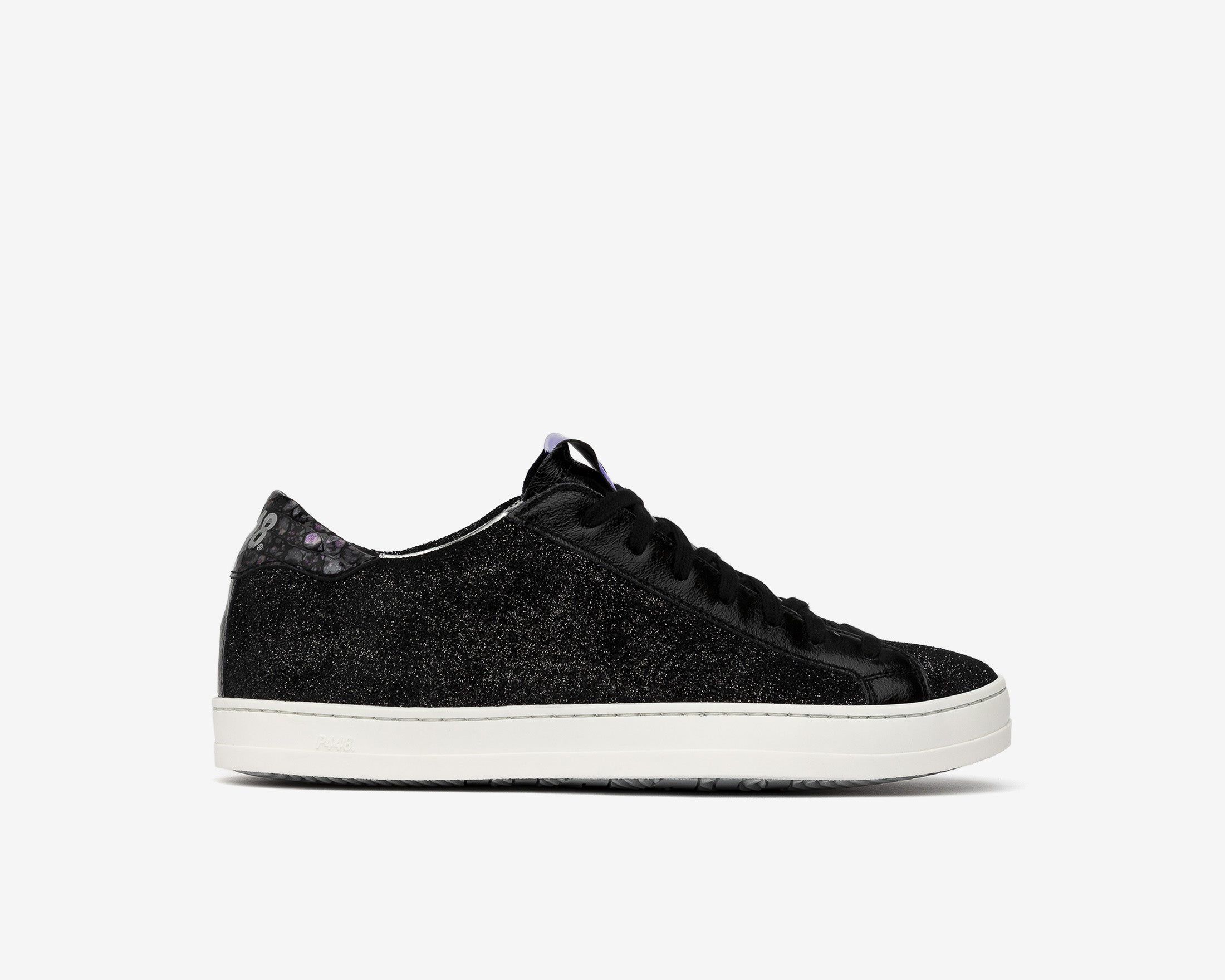 John Low-Top Sneaker in Black Patent - Profile