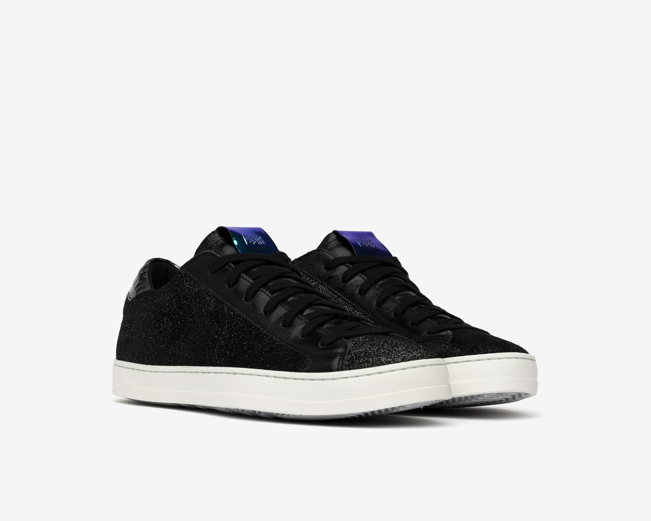 John Low-Top Sneaker in Black Patent - Side