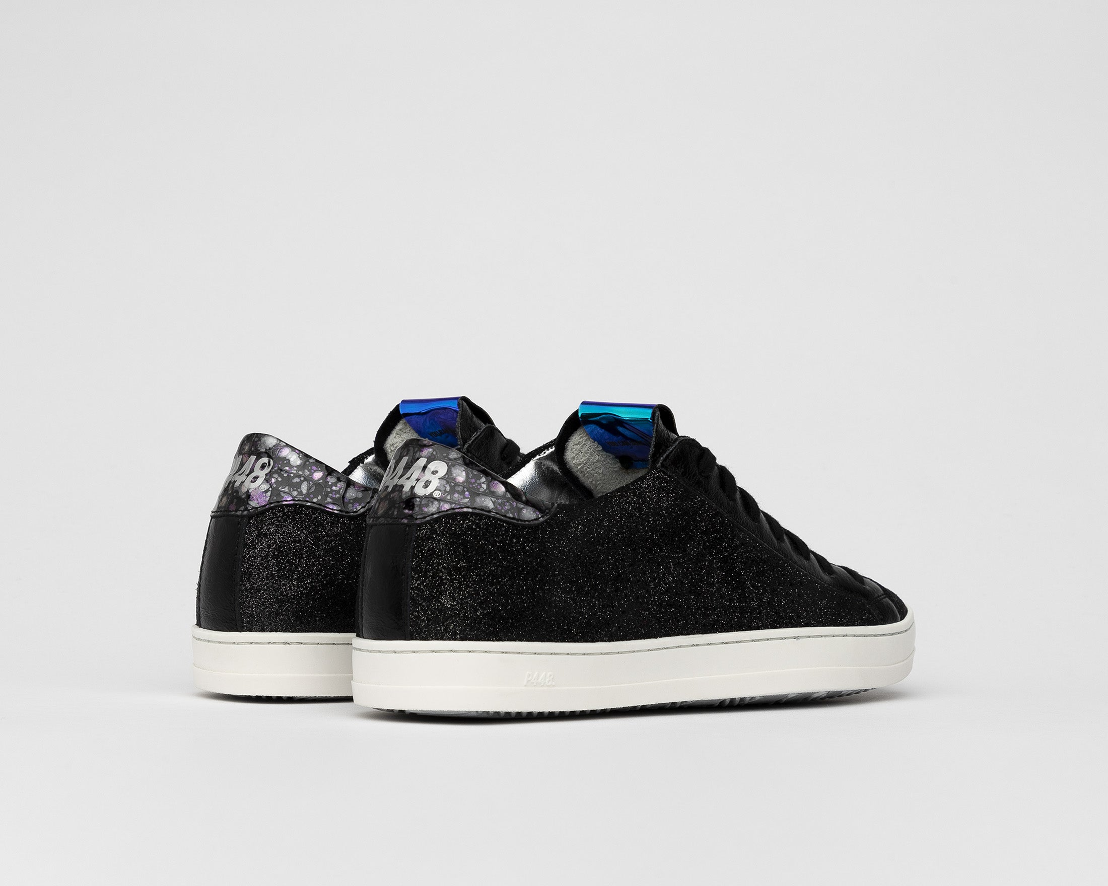 John Low-Top Sneaker in Black Patent - Back