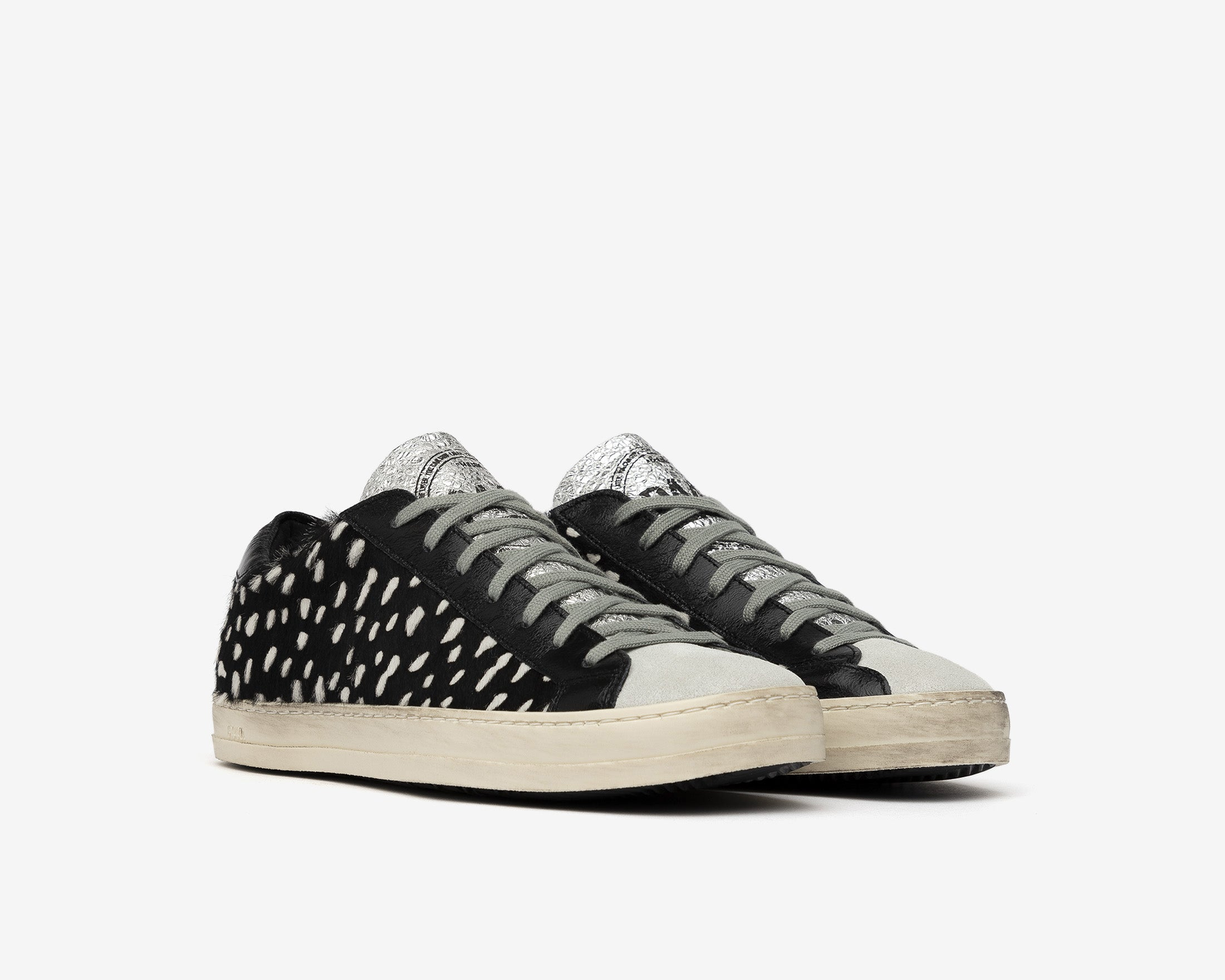 John Low-Top Sneaker in Cow Iena White - Side