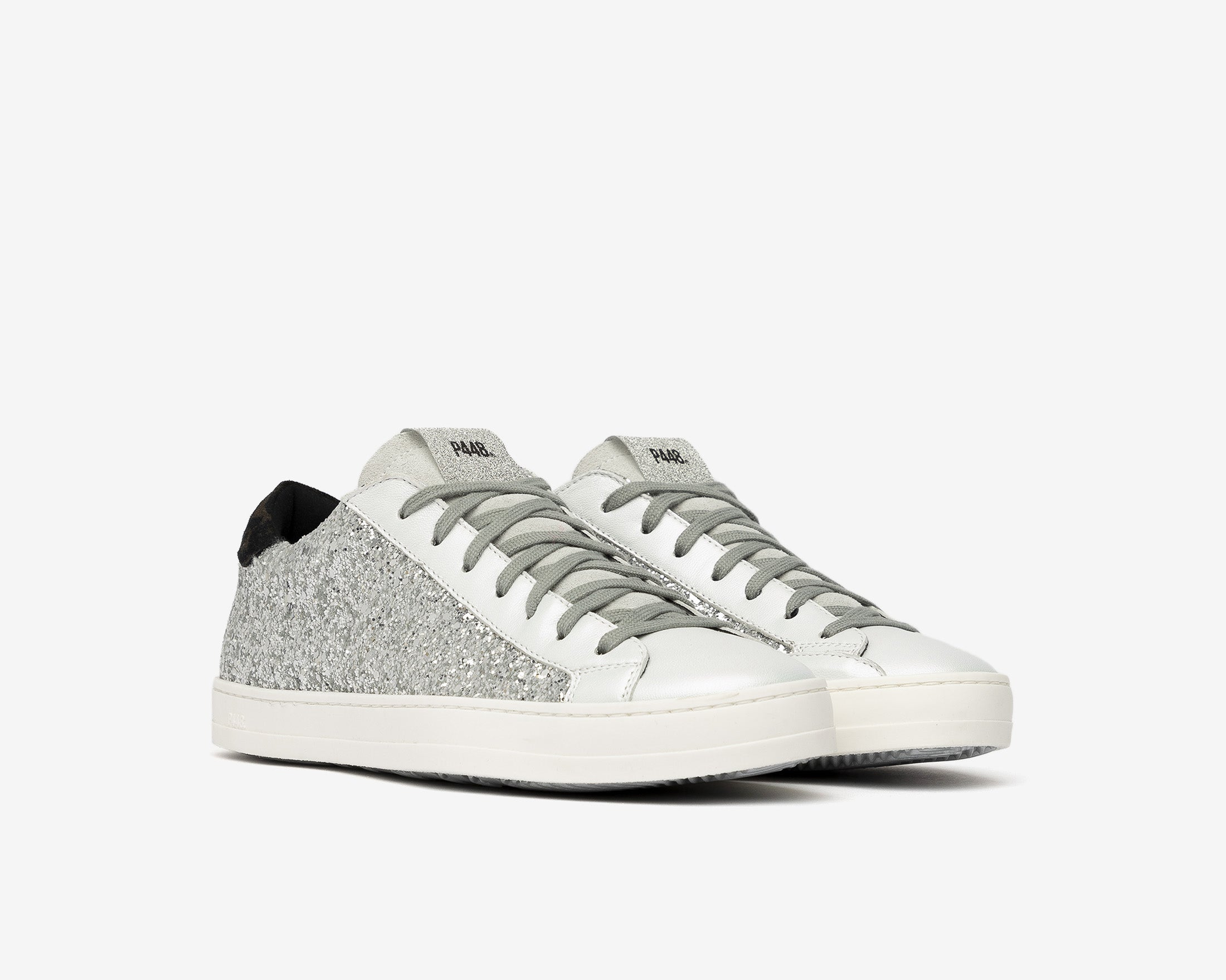 John Low-Top Sneaker in Ginerva Silver Glitter - Side