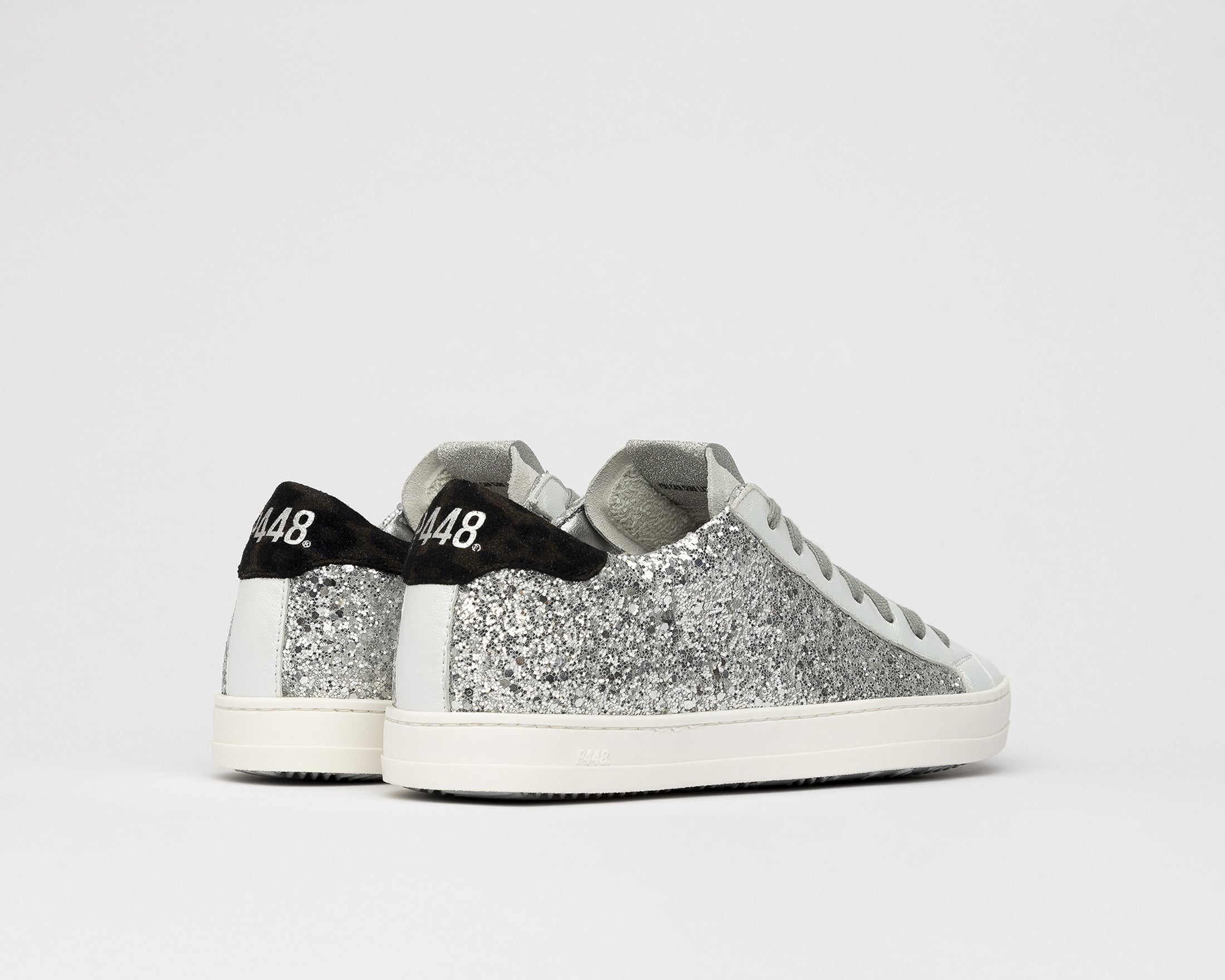 John Low-Top Sneaker in Ginerva Silver Glitter - Back