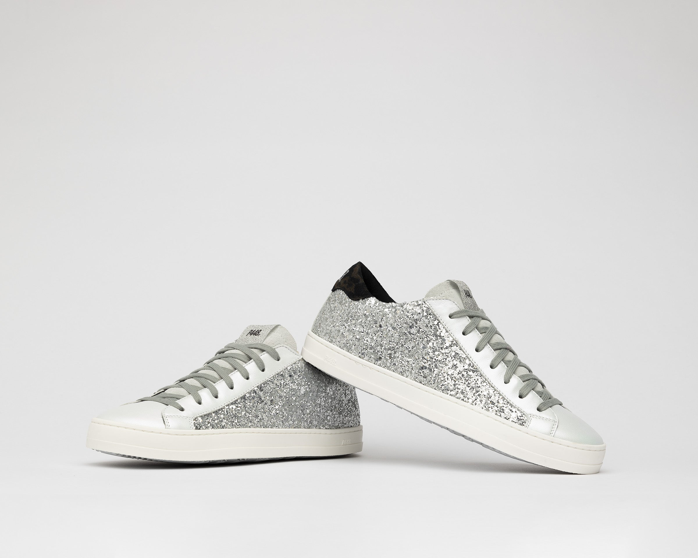 John Low-Top Sneaker in Ginerva Silver Glitter - Detail
