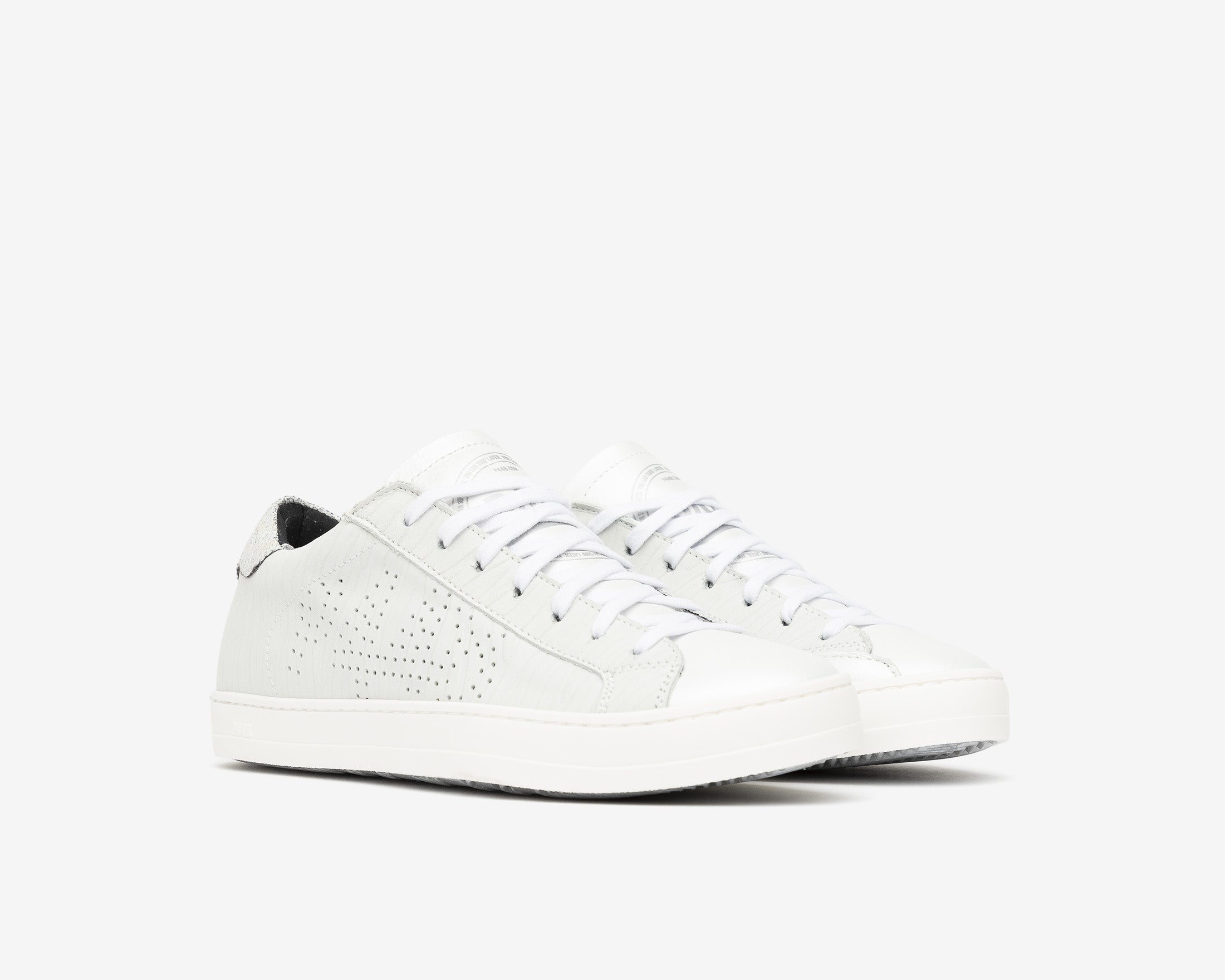 John Low-Top Sneaker in White Zebra/Beige - Side