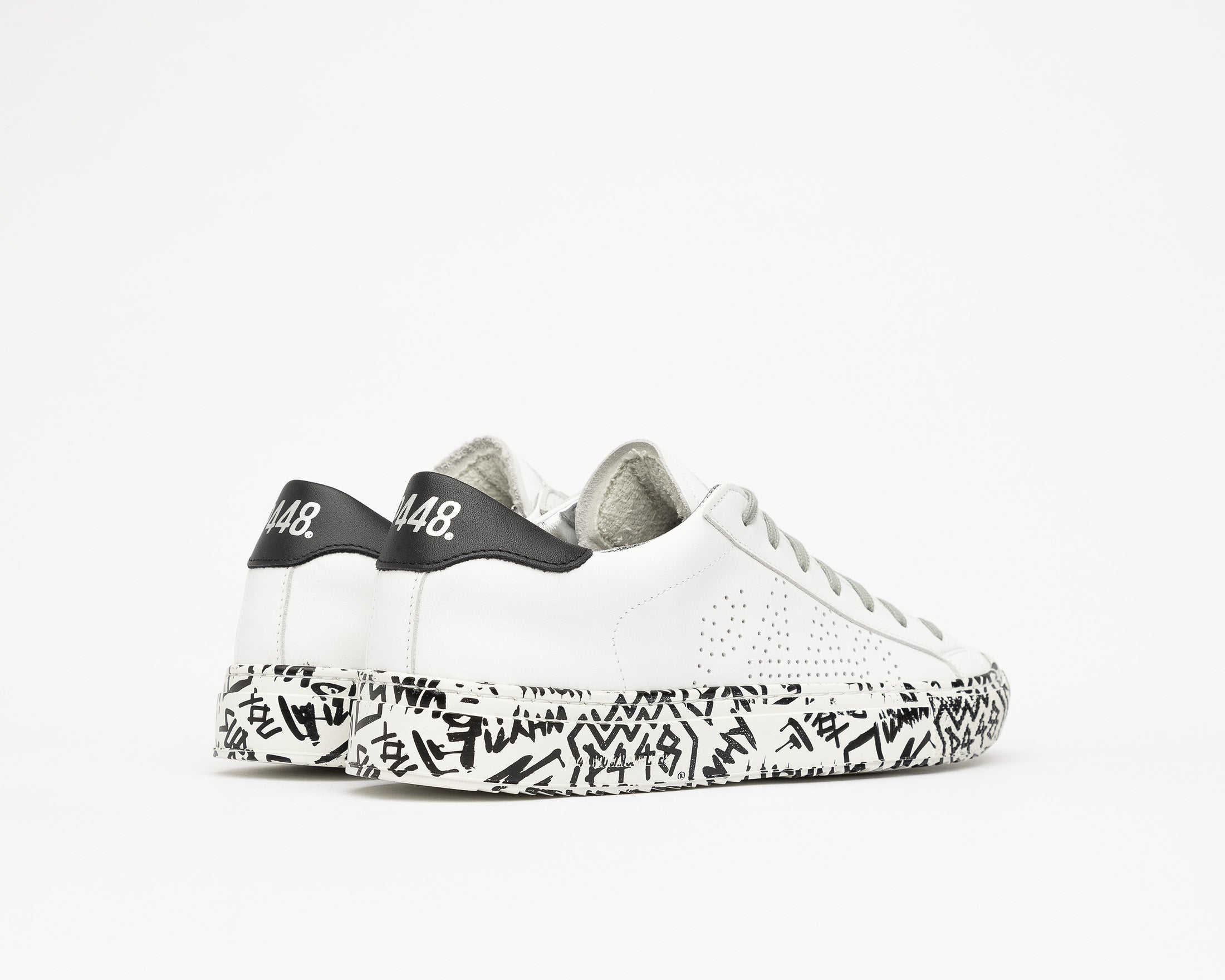 JohnP Low-Top Sneaker in White/P448 Sole - Back