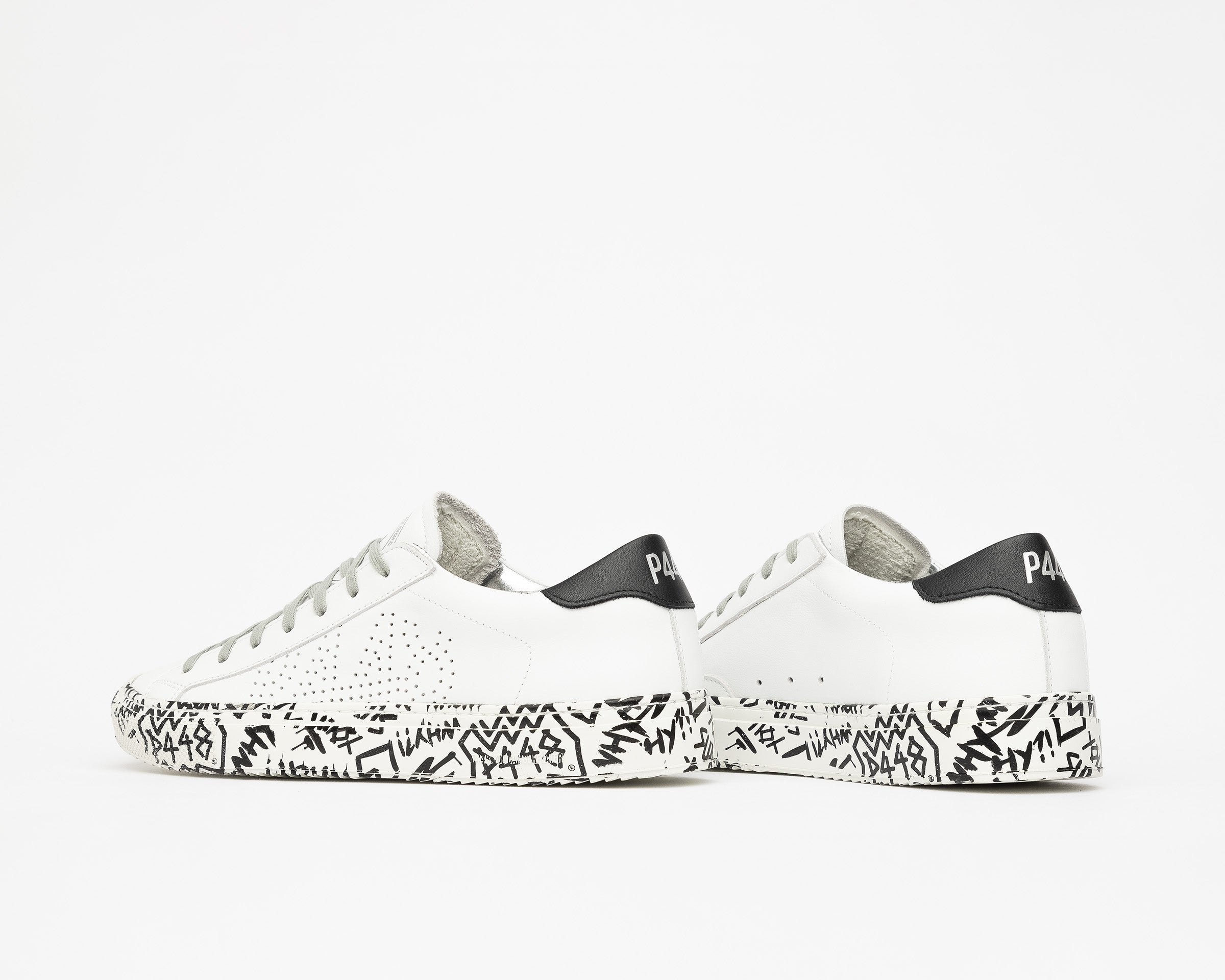 JohnP Low-Top Sneaker in White/P448 Sole - Detail 2